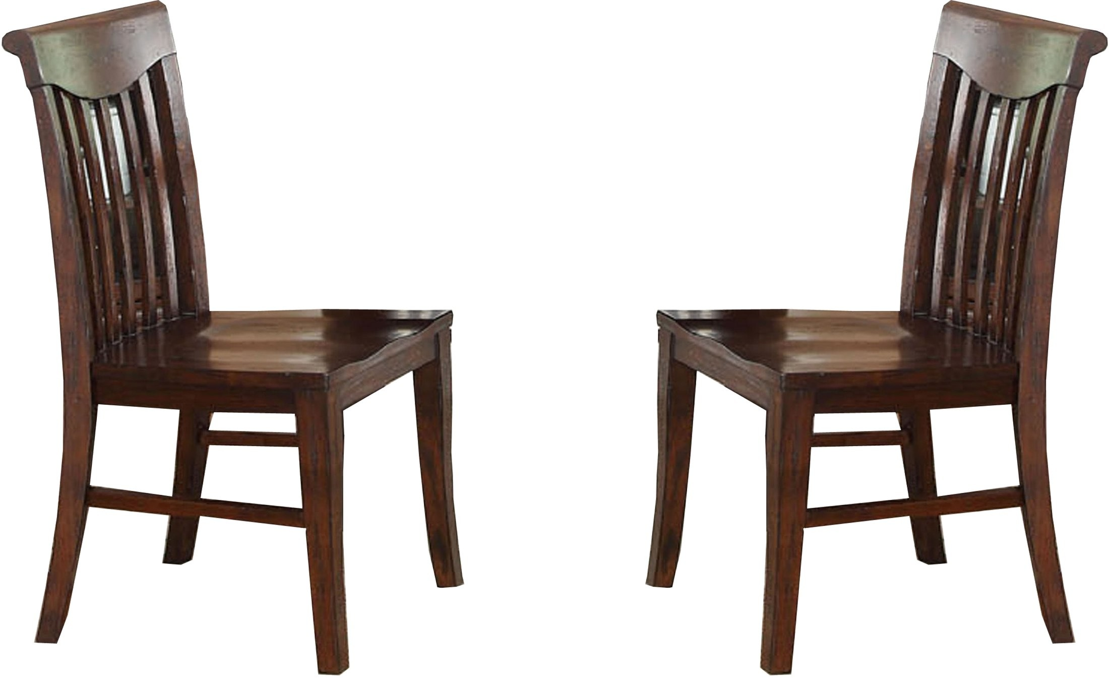 Distressed White Oak Dining Chairs: Gettysburg Distressed Dark Oak Side Chair Set Of 2 From