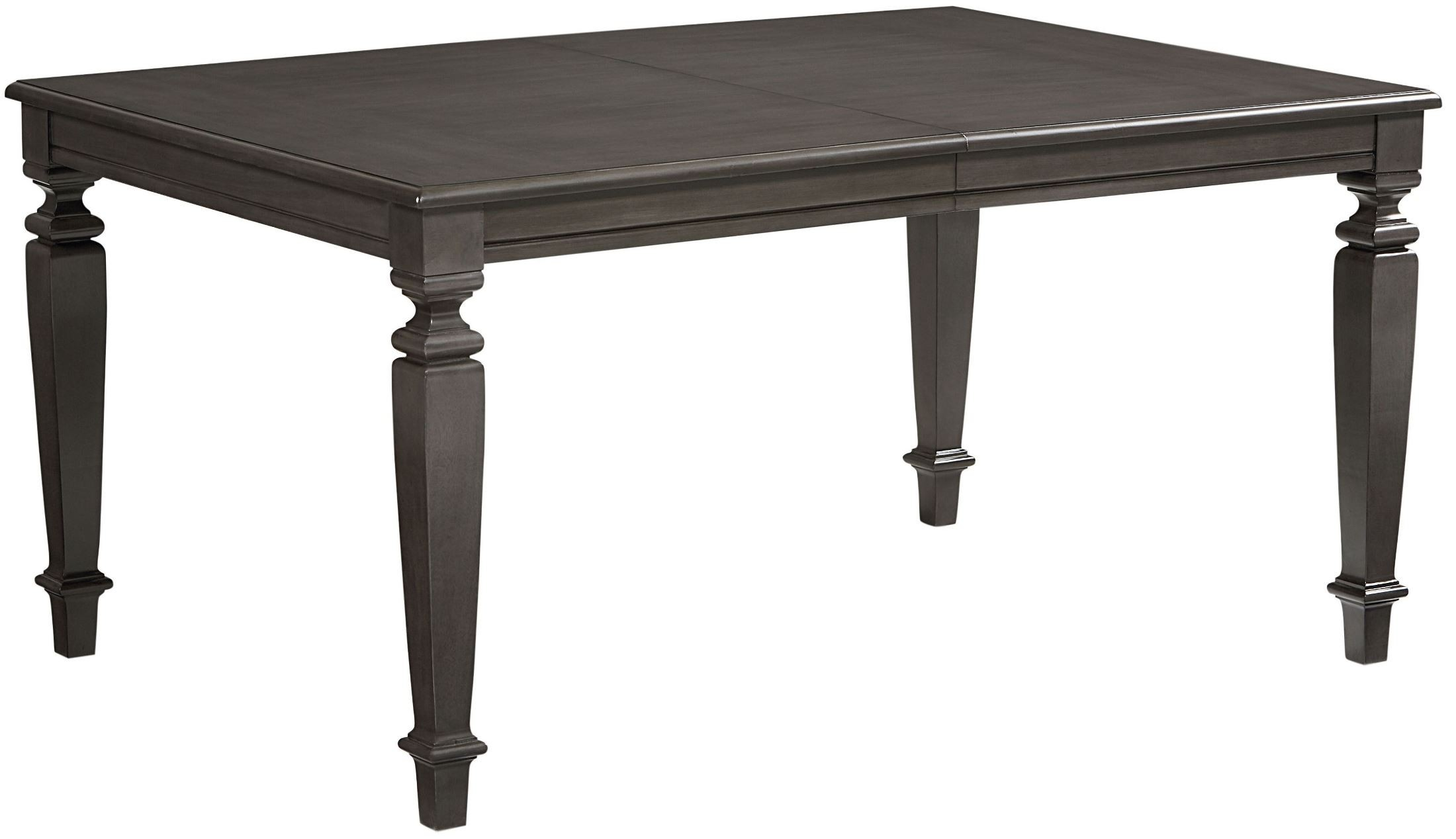 Garrison burnished grey extendable rectangular leg dining for One leg dining table