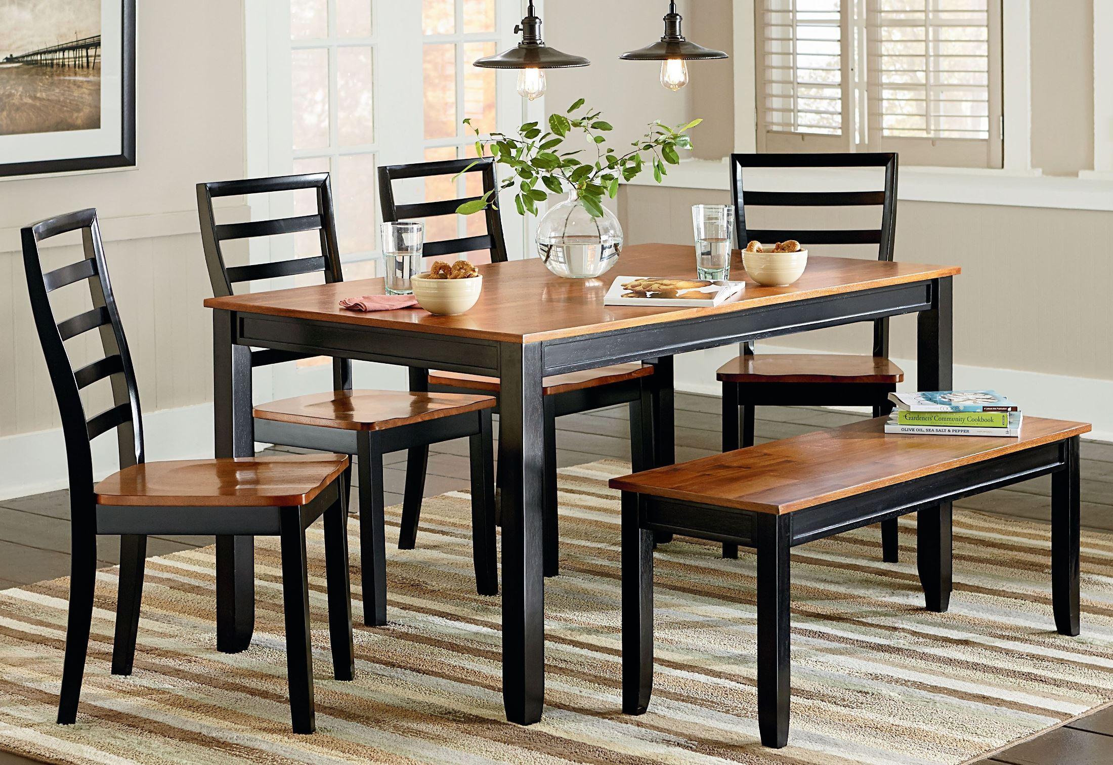 lexford two tone dining room set 14922 standard furniture. Black Bedroom Furniture Sets. Home Design Ideas