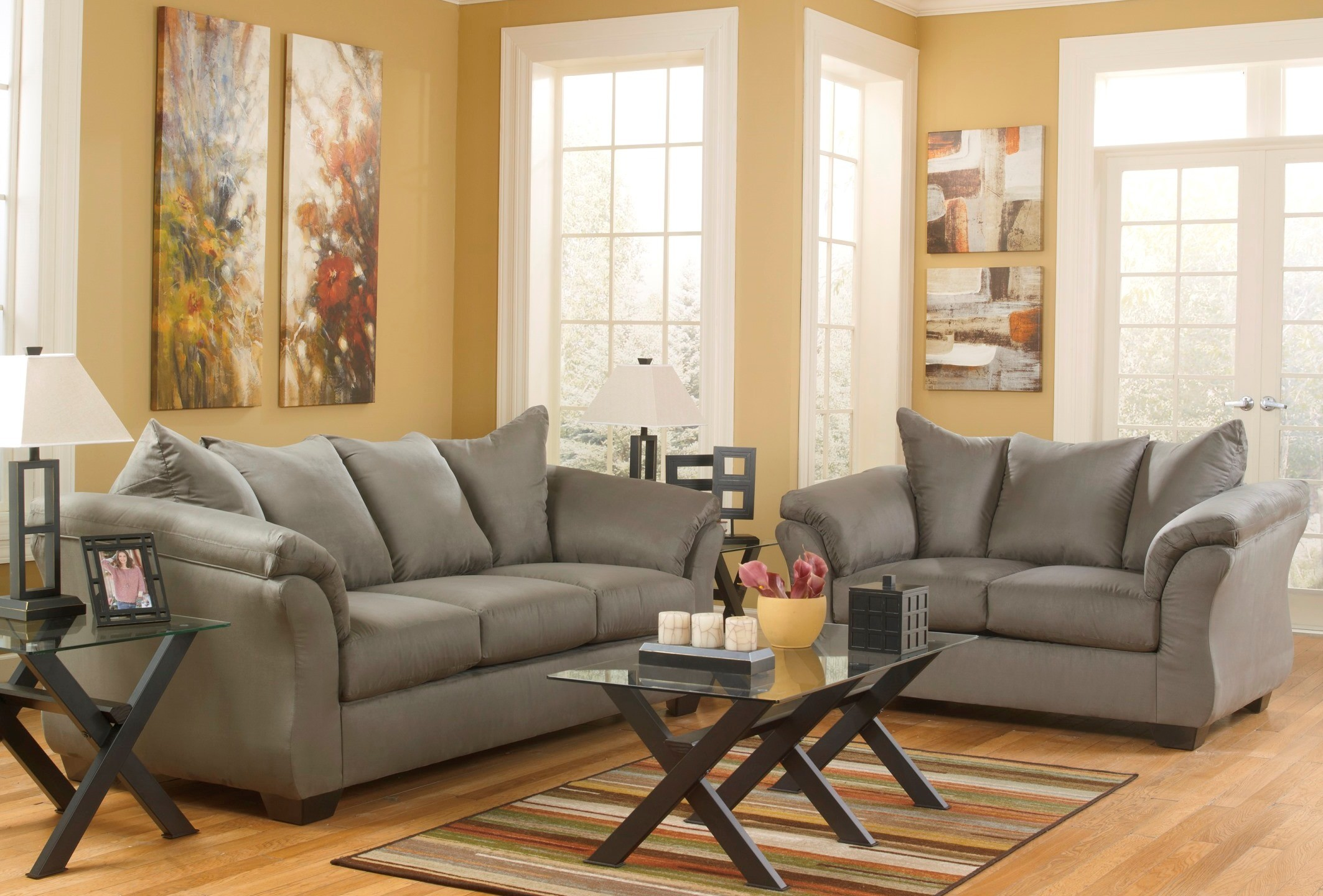 Darcy Cobblestone Living Room Set From Ashley 75005 38 35 Coleman Furniture