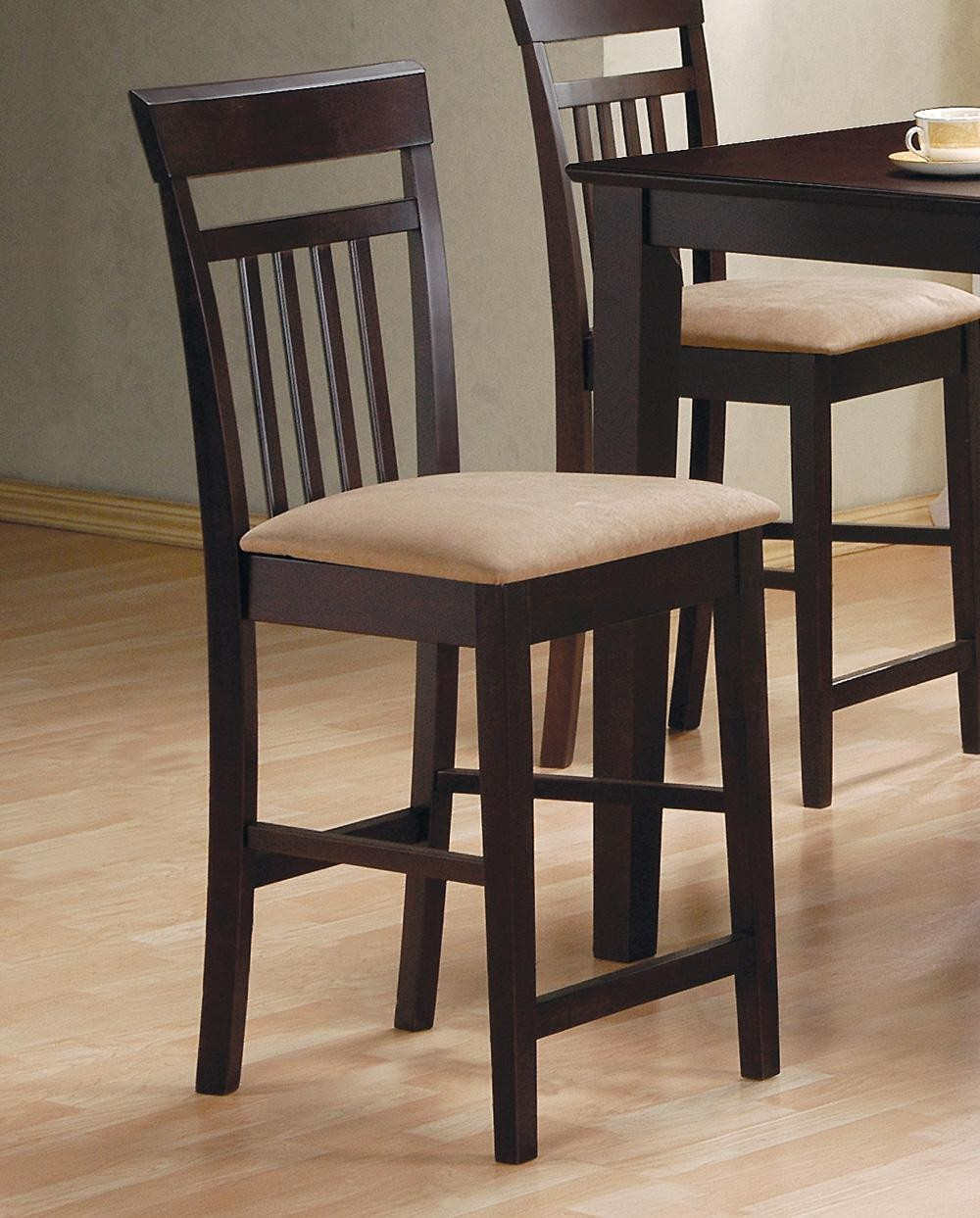 Dining Room Sets 5 Piece: Cappuccino 5 Piece Counter Height Dining Room Set 150041