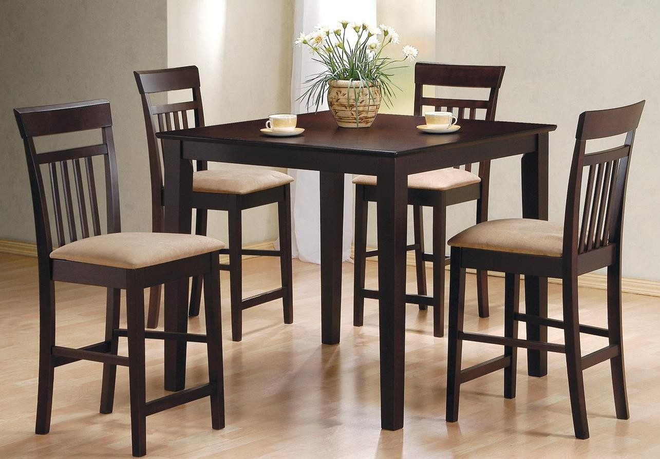 counter height dining room sets cappuccino 5 piece counter height dining room set 150041 from coaster 150041 coleman furniture 8498
