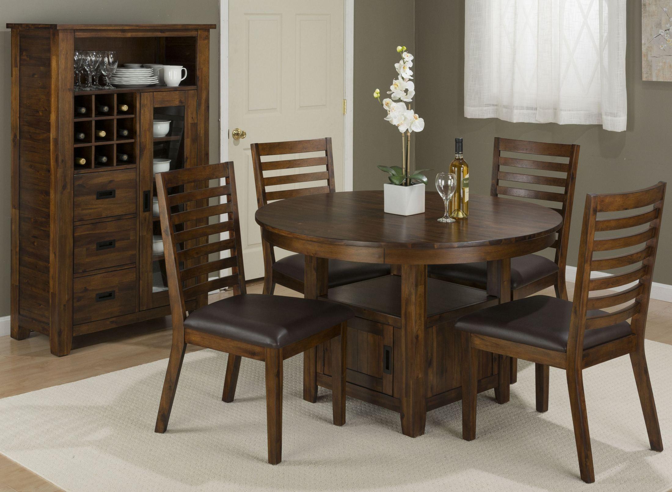 "Coolidge Corner 48"" Adjustable Round Storage Dining Room"