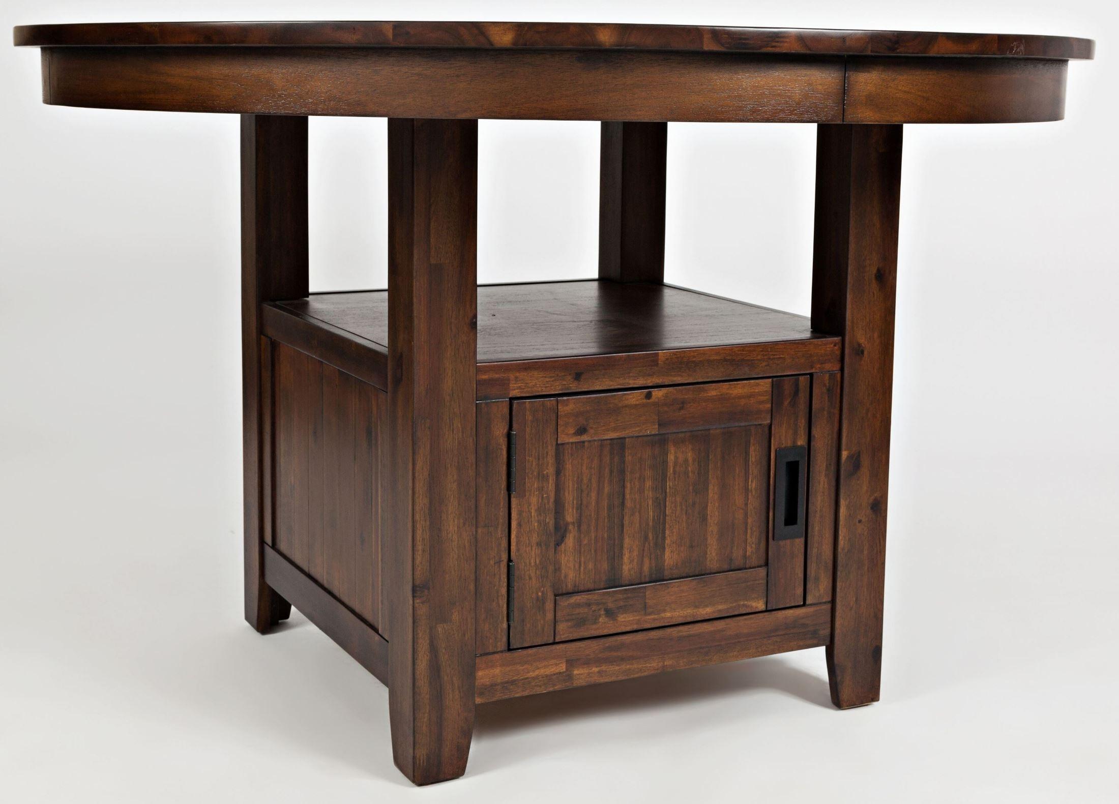 "Coolidge Corner 48"" Adjustable Round Storage Dining Table"