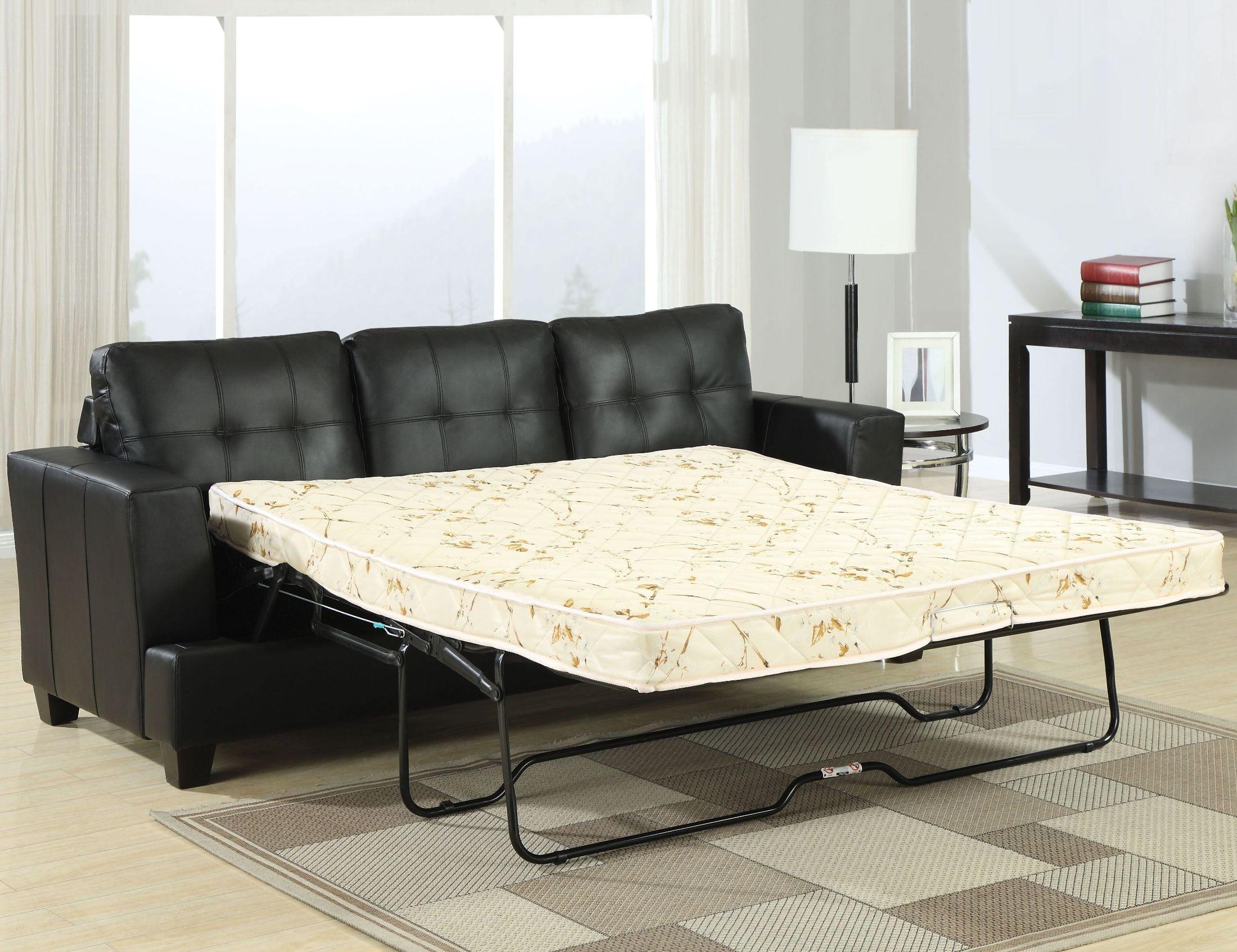 Platinum Black Bonded Leather Living Room Set from Acme | Coleman ...