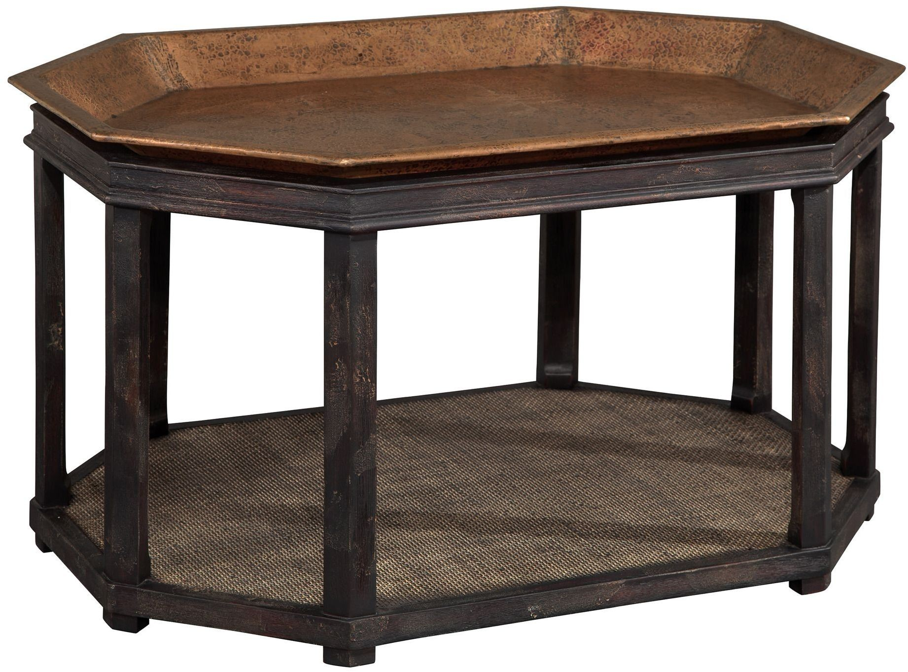 Hammered Copper Tray Coffee Table from Hekman Furniture