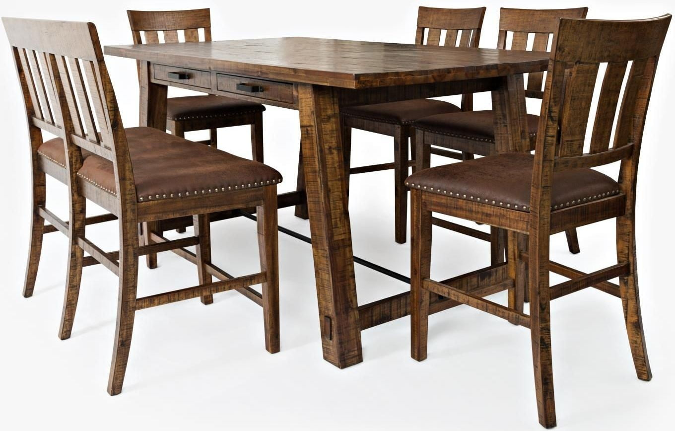 Cannon Valley Counter Height Trestle Dining Room Set From Jofran | Coleman  Furniture