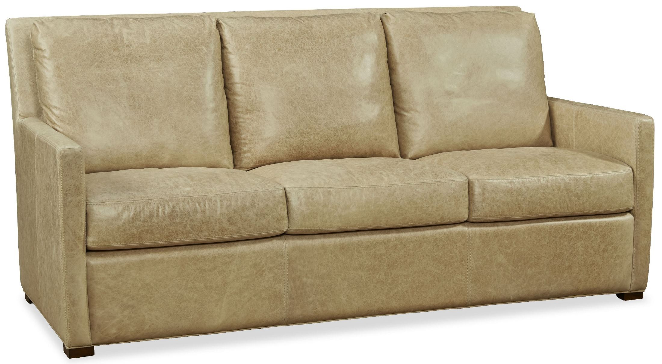 Charlotte desert sand leather sofa from palatial furniture for Sand leather sofa