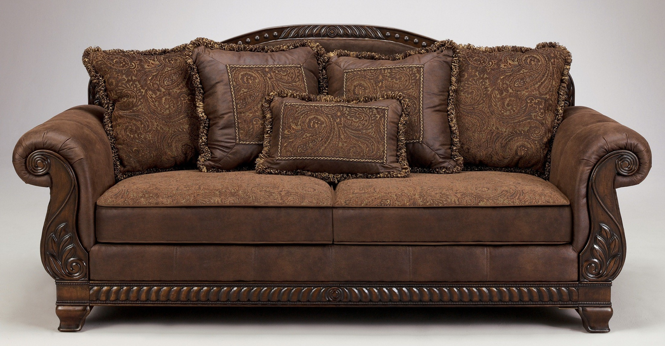 Bradington Truffle Sofa Ashley Furniture 1540038 Couch