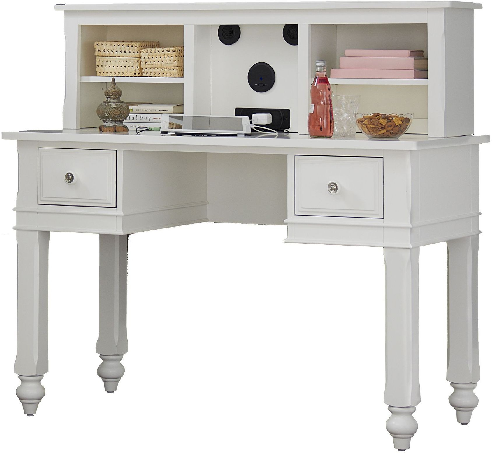 Lake House White Writing Desk With Hutch From Ne Kids