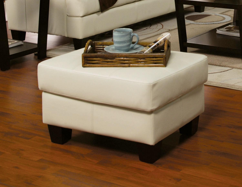 Samuel cream leather living room set 501691 from coaster - Living room with cream leather sofa ...