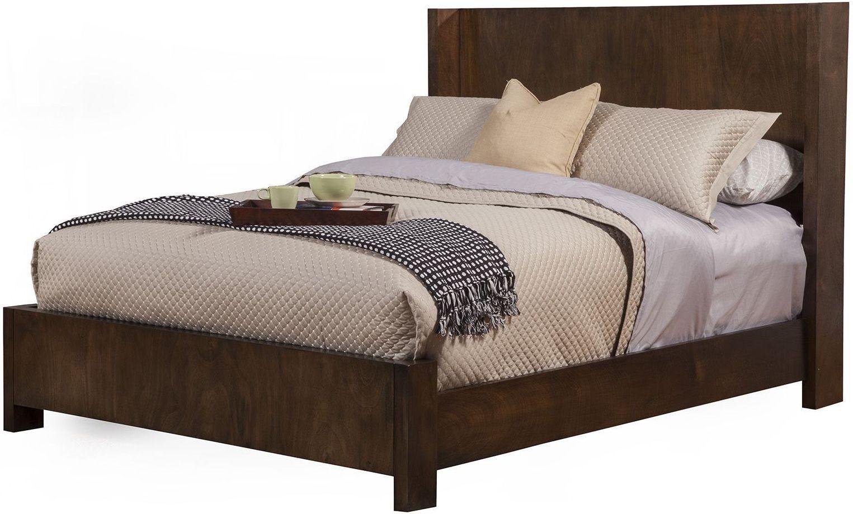 Austin Chestnut Shelter King Panel Bed From Alpine Coleman Furniture