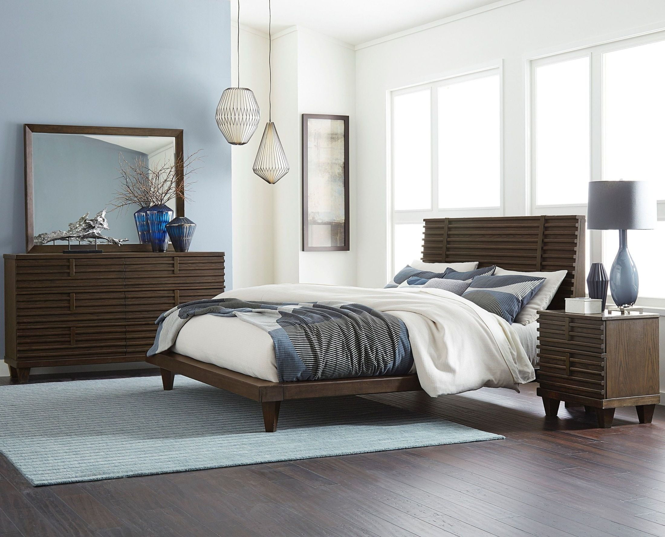 Ridgewood Rustic Burnished Oak Platform Bedroom Set From Homelegance |  Coleman Furniture