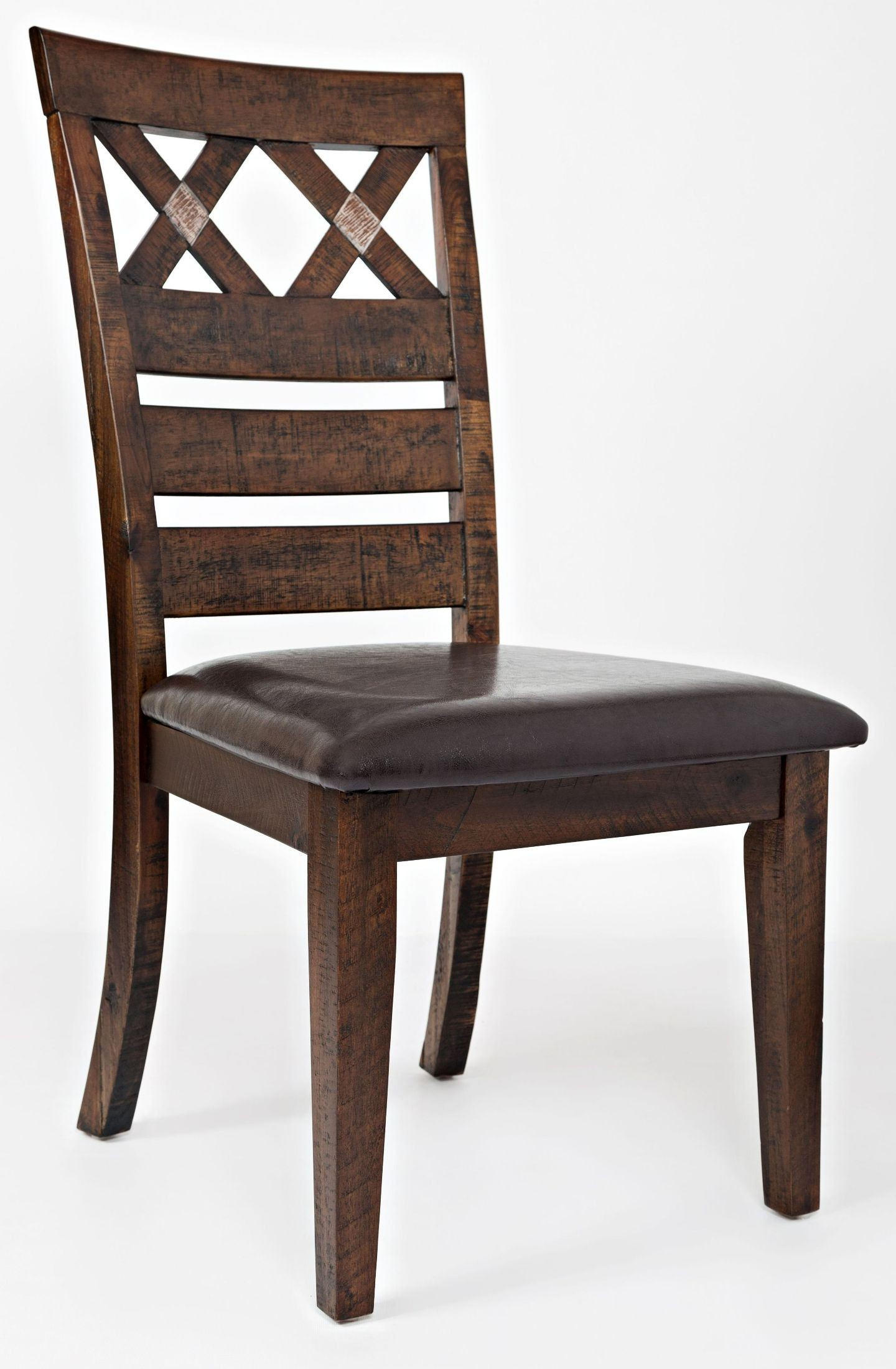 Painted canyon brown dining chair set of 2 from jofran 2 seat dining set