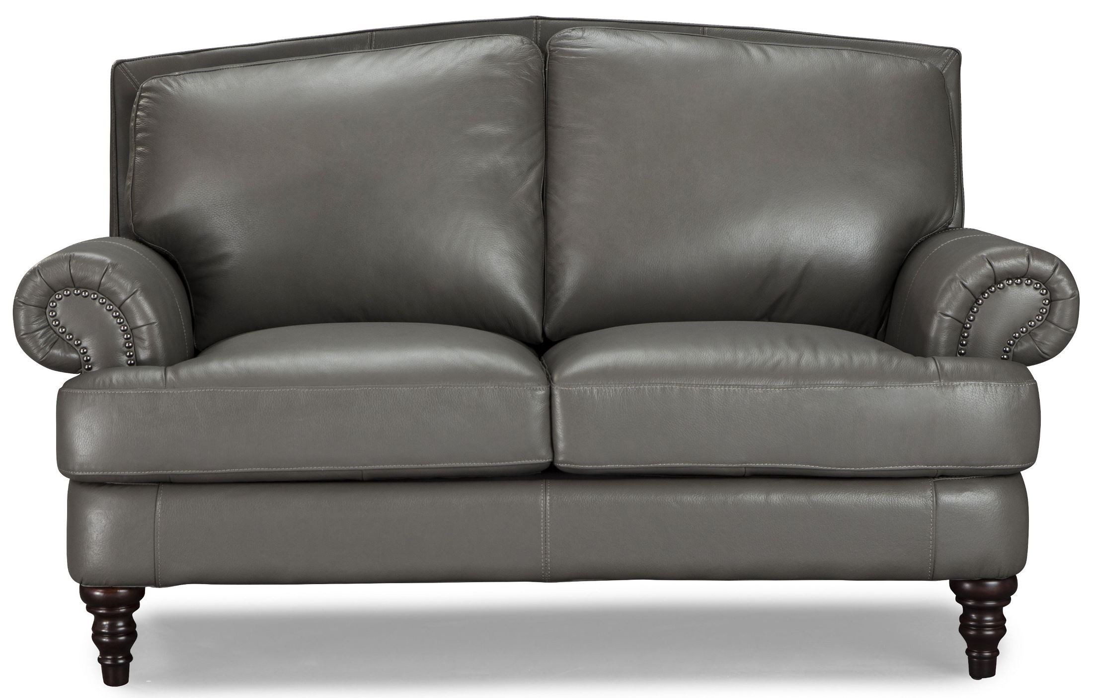 Juliette Battleship Grey Leather Living Room Set From Lazzaro Coleman Furniture