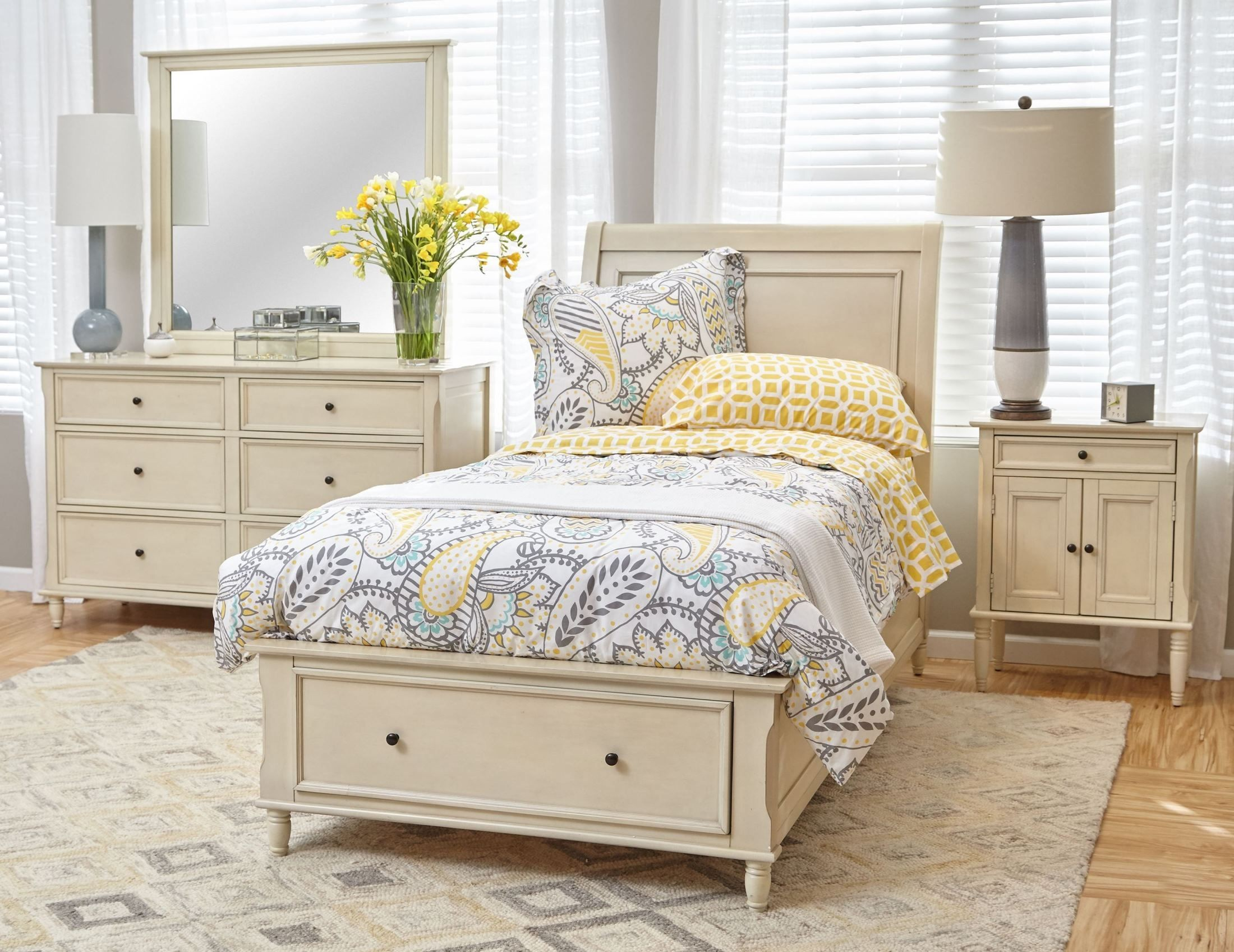 ivory bedroom furniture avignon ivory youth storage bedroom set from jofran 11907