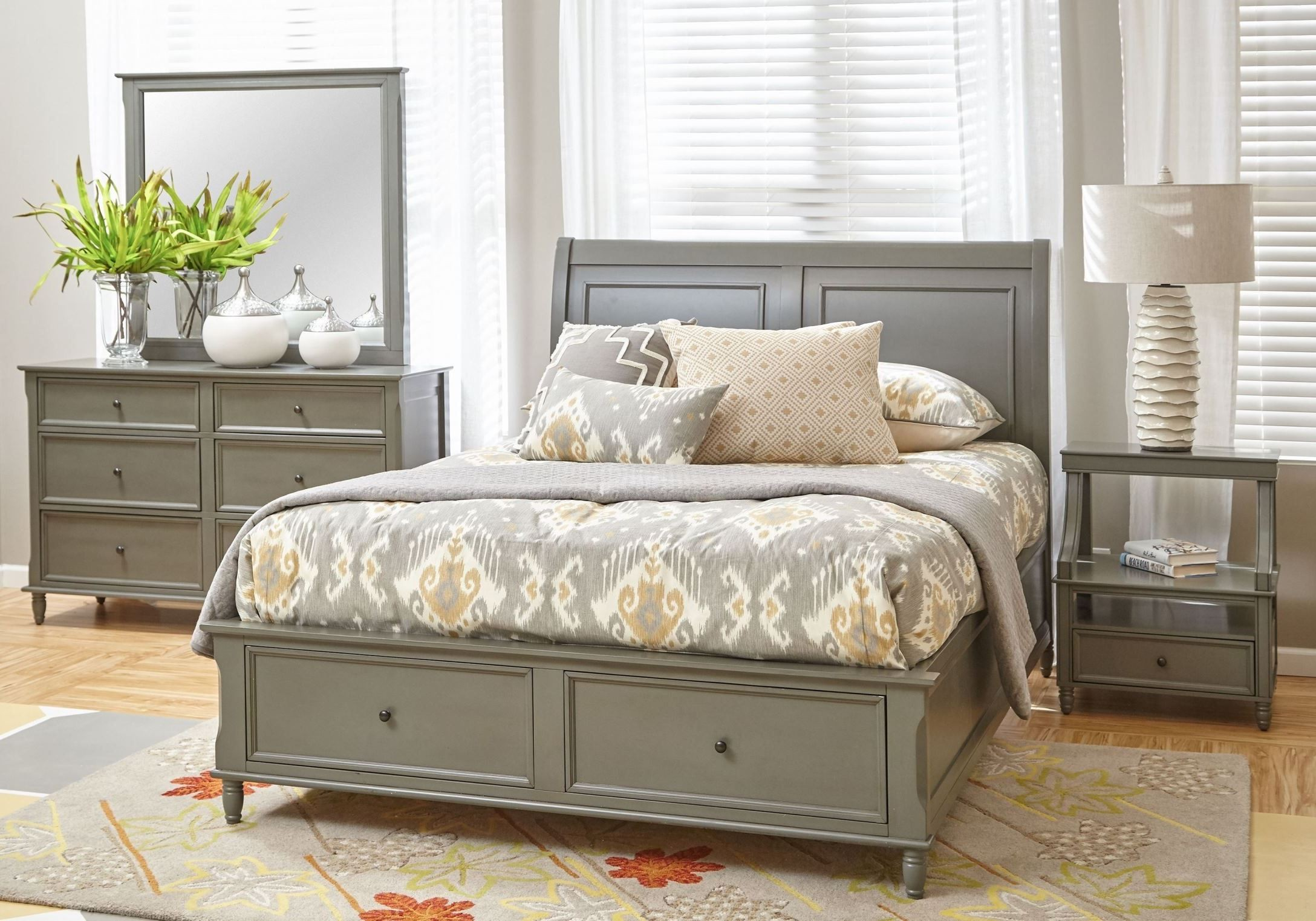 Avignon Bedroom Furniture Avignon Grey Storage Bedroom Set From Jofran  Coleman Furniture