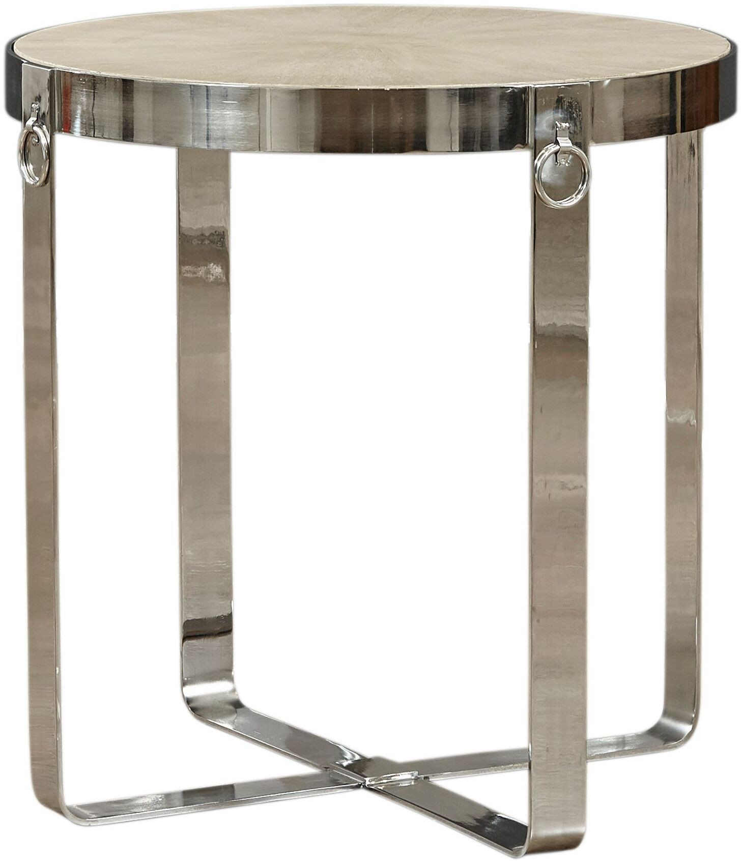 Options Silver Round End Table