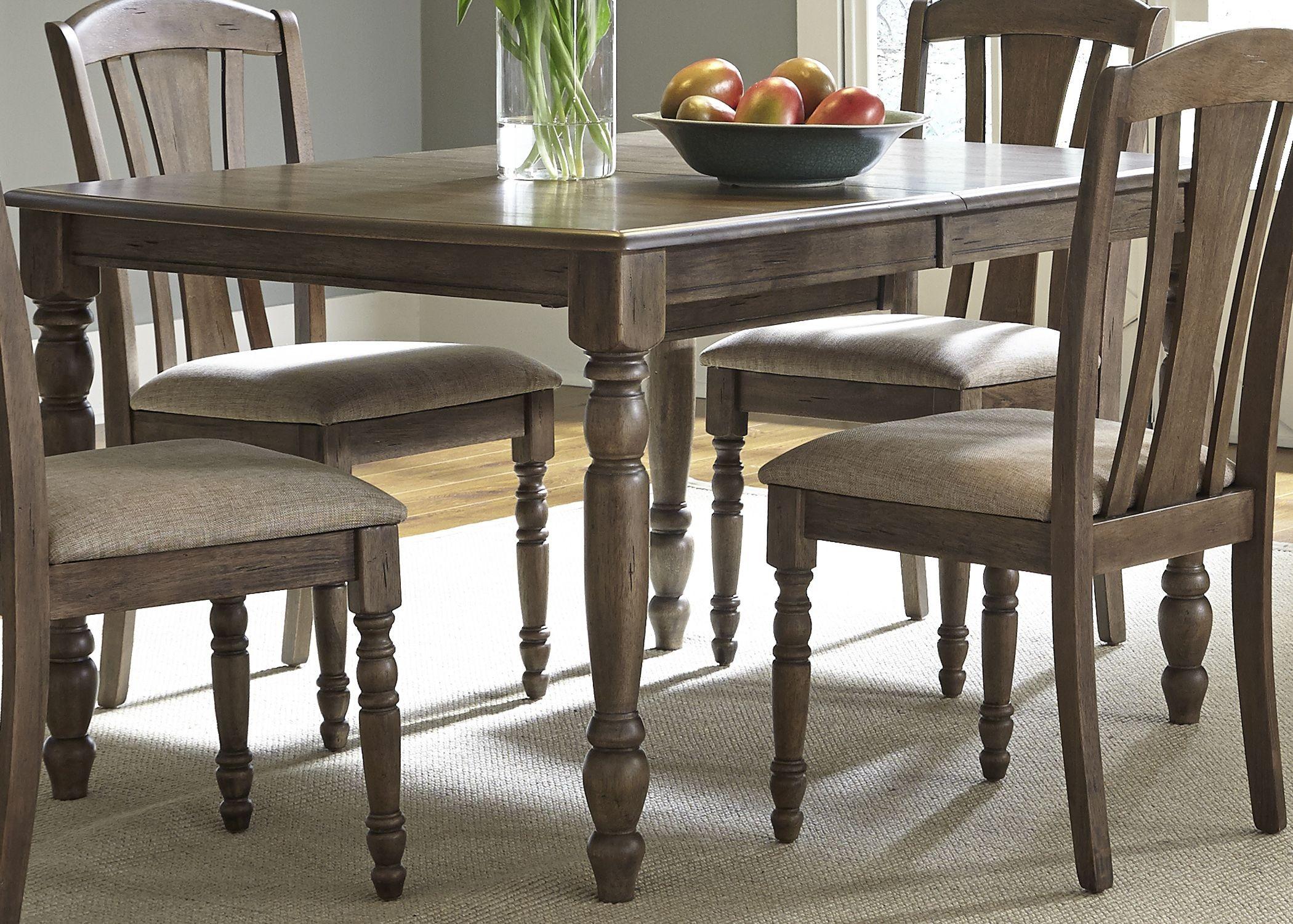 Candlewood Weather Gray Extendable Rectangular Leg Dining