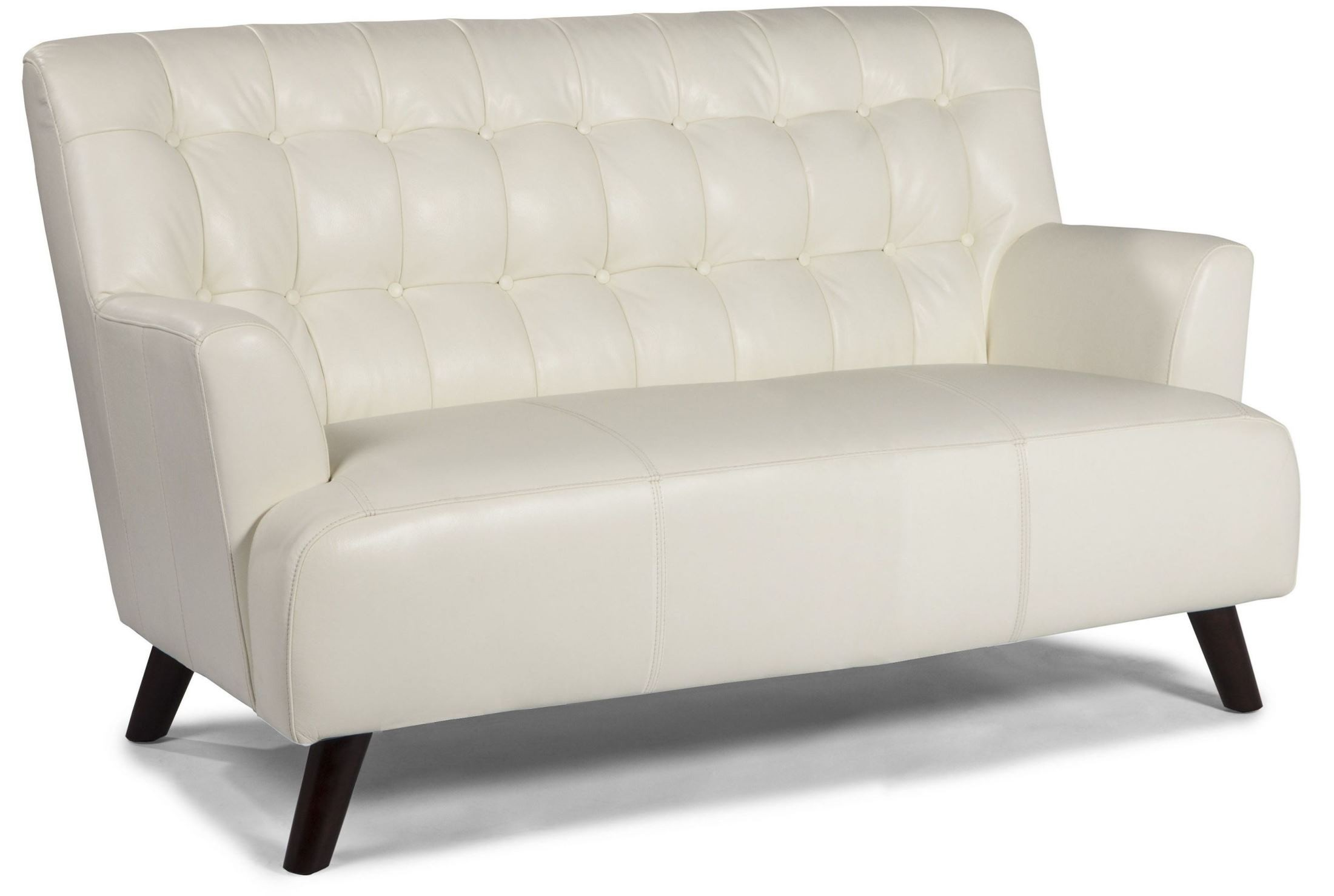 New York White Leather Loveseat From Lazzaro Coleman Furniture