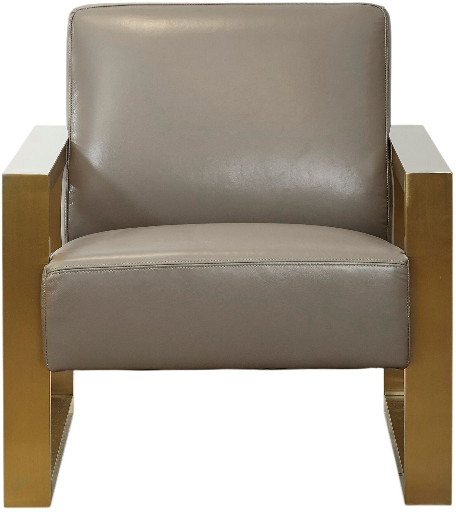 Lexus Metro Grey Top Grain Leather Chair from Lazzaro