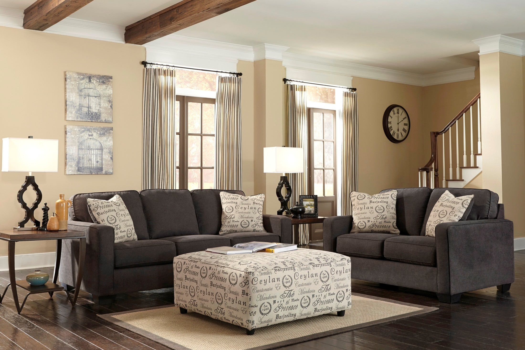 Alenya Charcoal Living Room Set From Ashley 16601 38 35