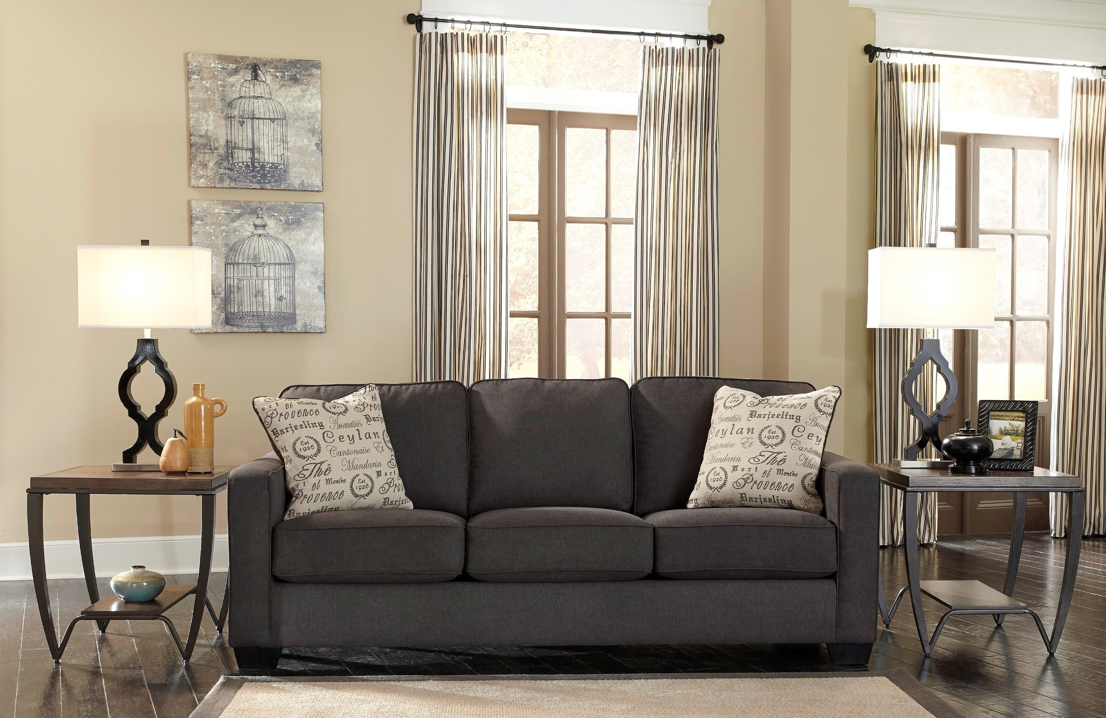 Alenya Charcoal Fabric Sofa From Ashley 1660138