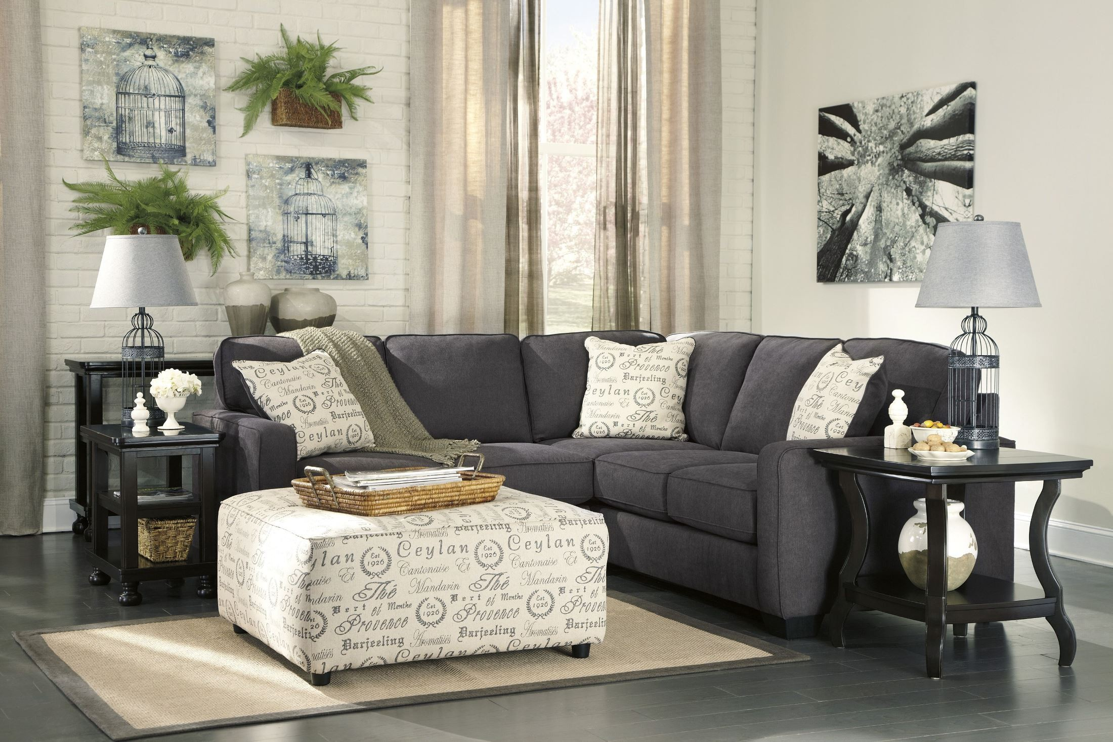 Alenya Charcoal LAF Sectional from Ashley | Coleman Furniture