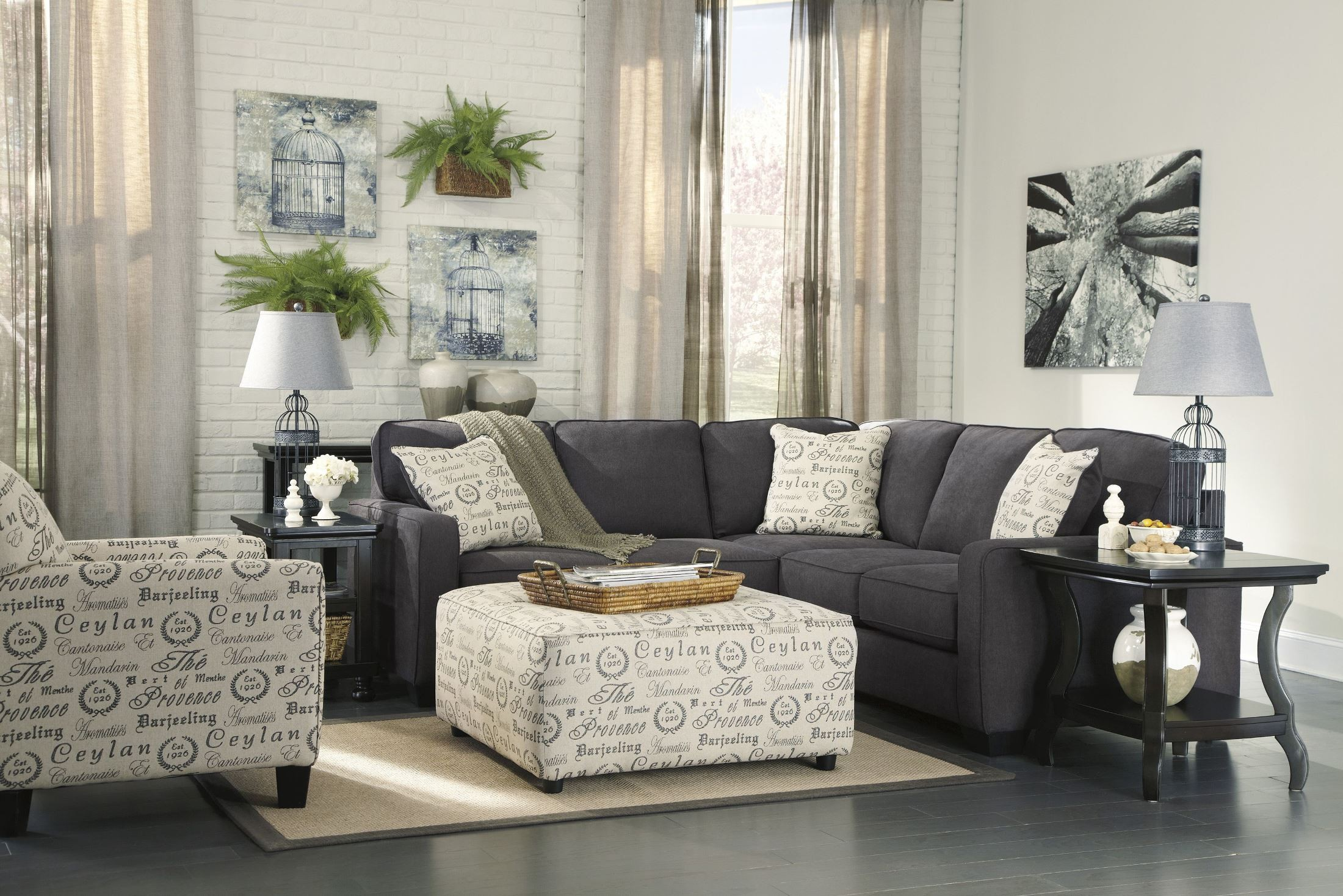 home number by furnishings ashley smoke furniture contemporary boulevard right at chaise with products sectional item gray loric piece