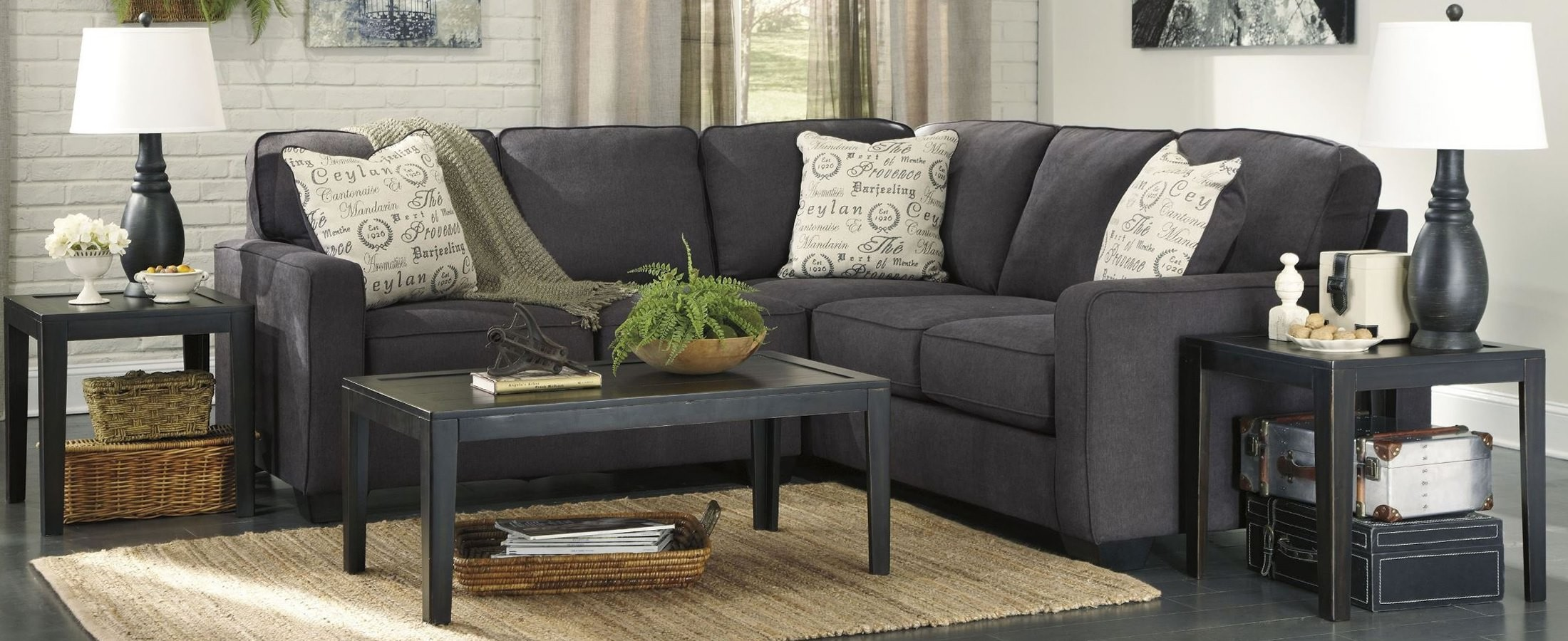 Alenya Charcoal Raf Sectional From Ashley 16601 56 66