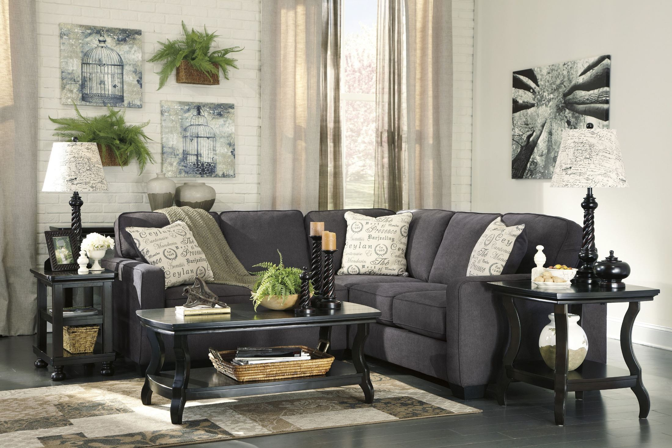 Alenya Charcoal LAF Sectional from Ashley