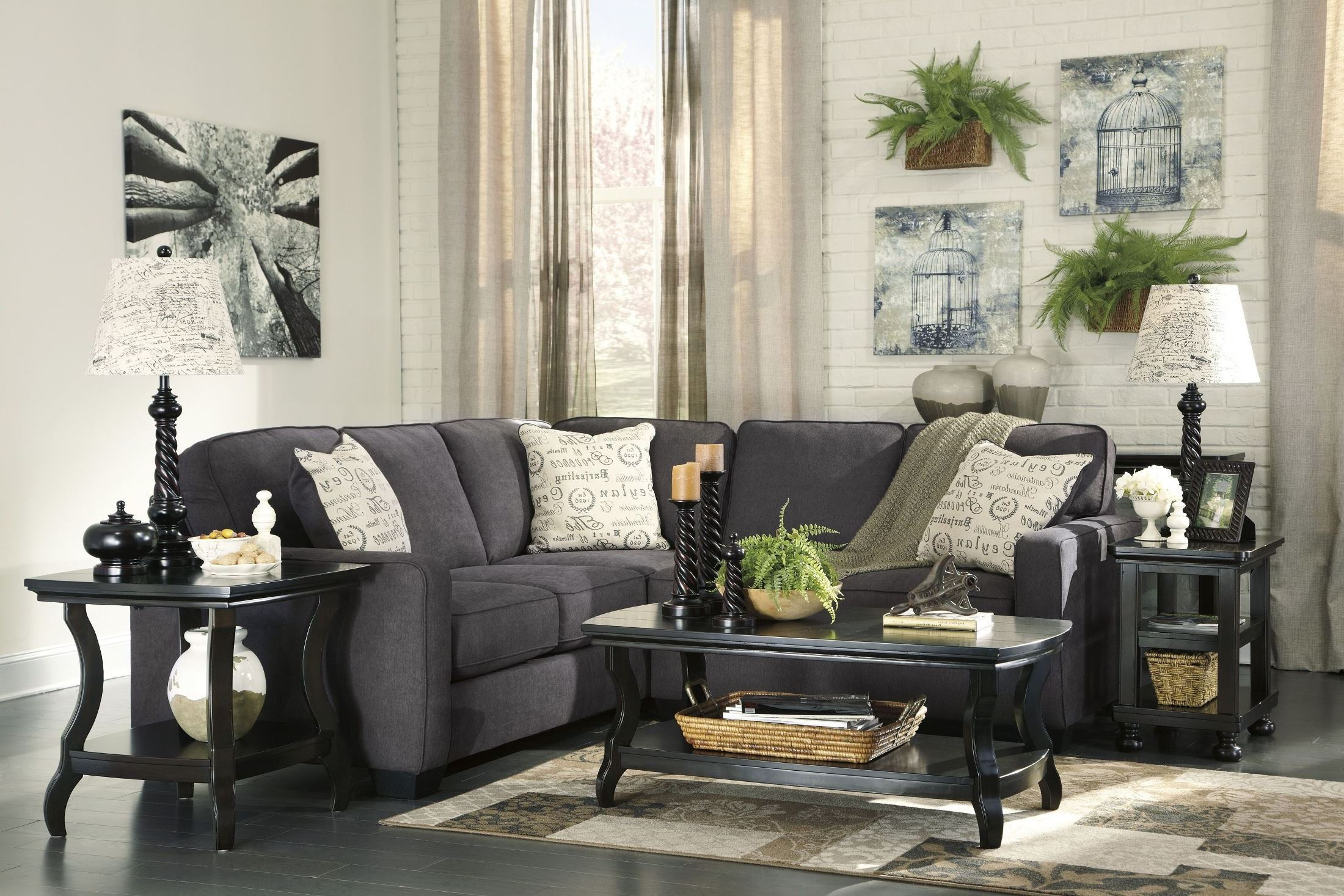 Alenya Charcoal RAF Sectional from Ashley