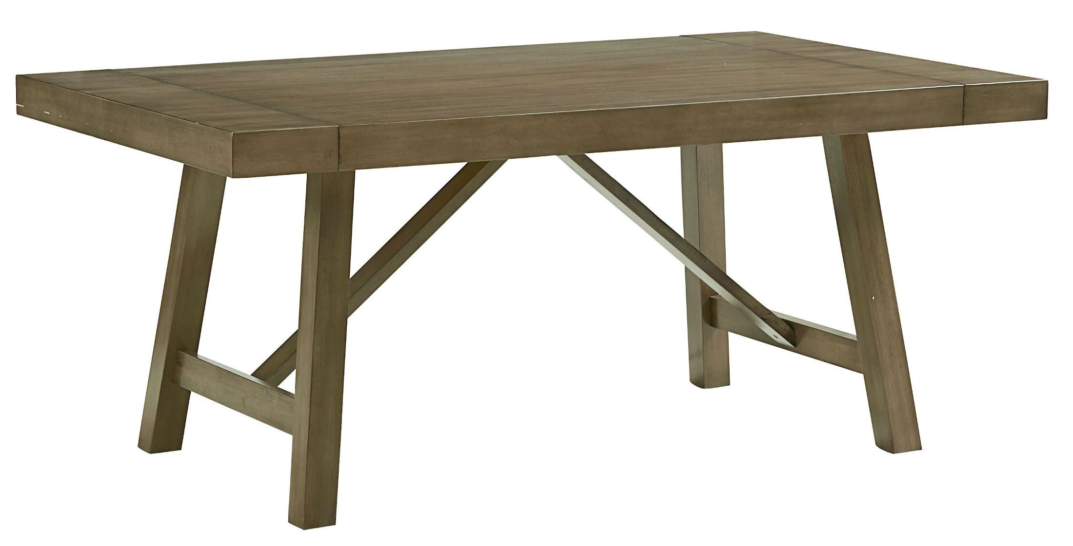 Omaha Weathered Burnished Grey Extendable Trestle Dining