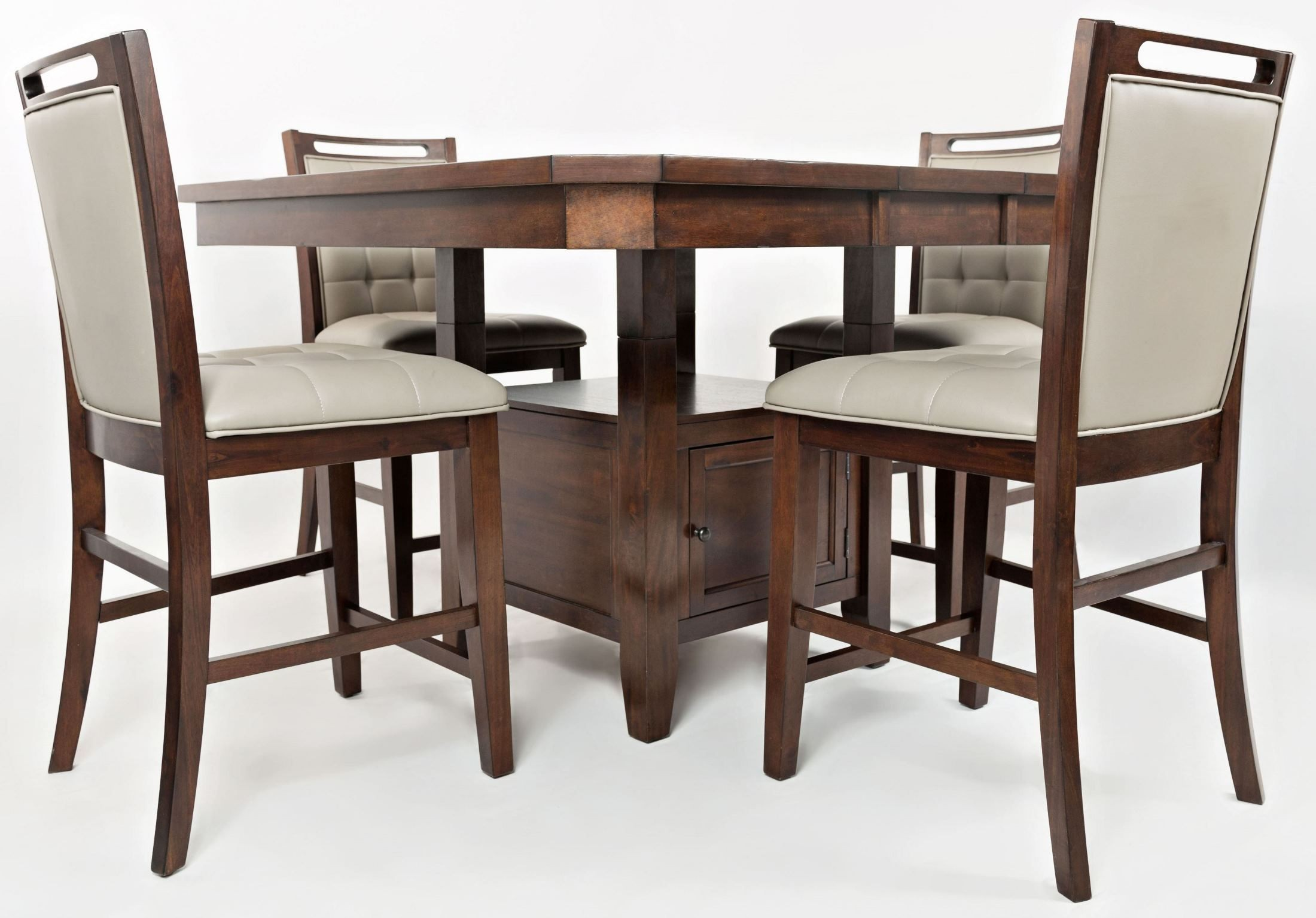 Manchester storage extendable dining room set from jofran coleman furniture - Dining room sets with storage ...