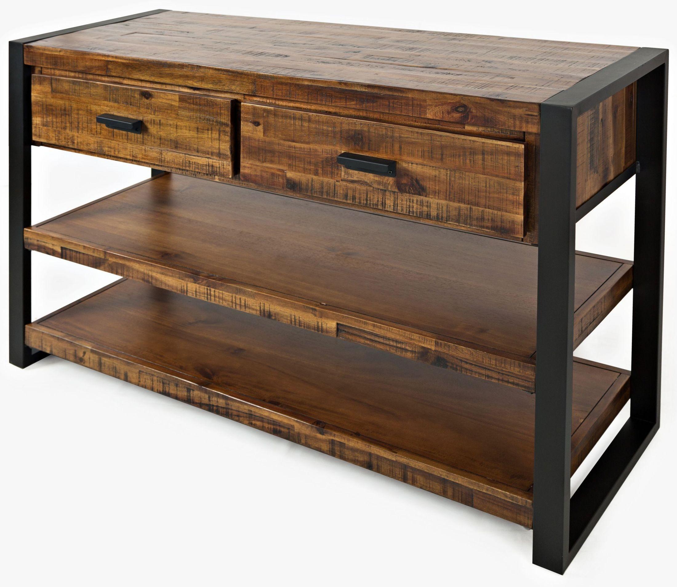 Loftworks Distressed Wood Sofa Table