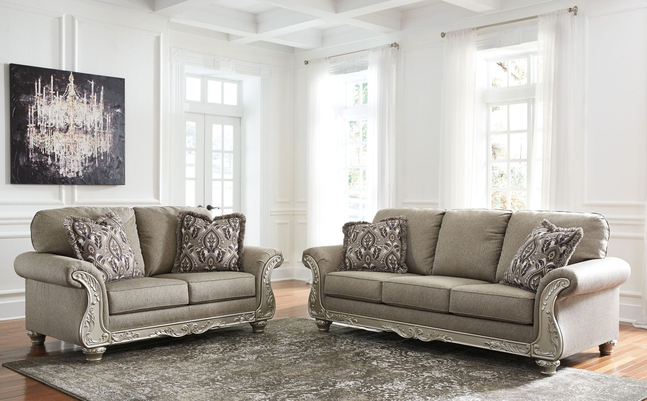 Gailian Smoke Sofa From Ashley Coleman Furniture