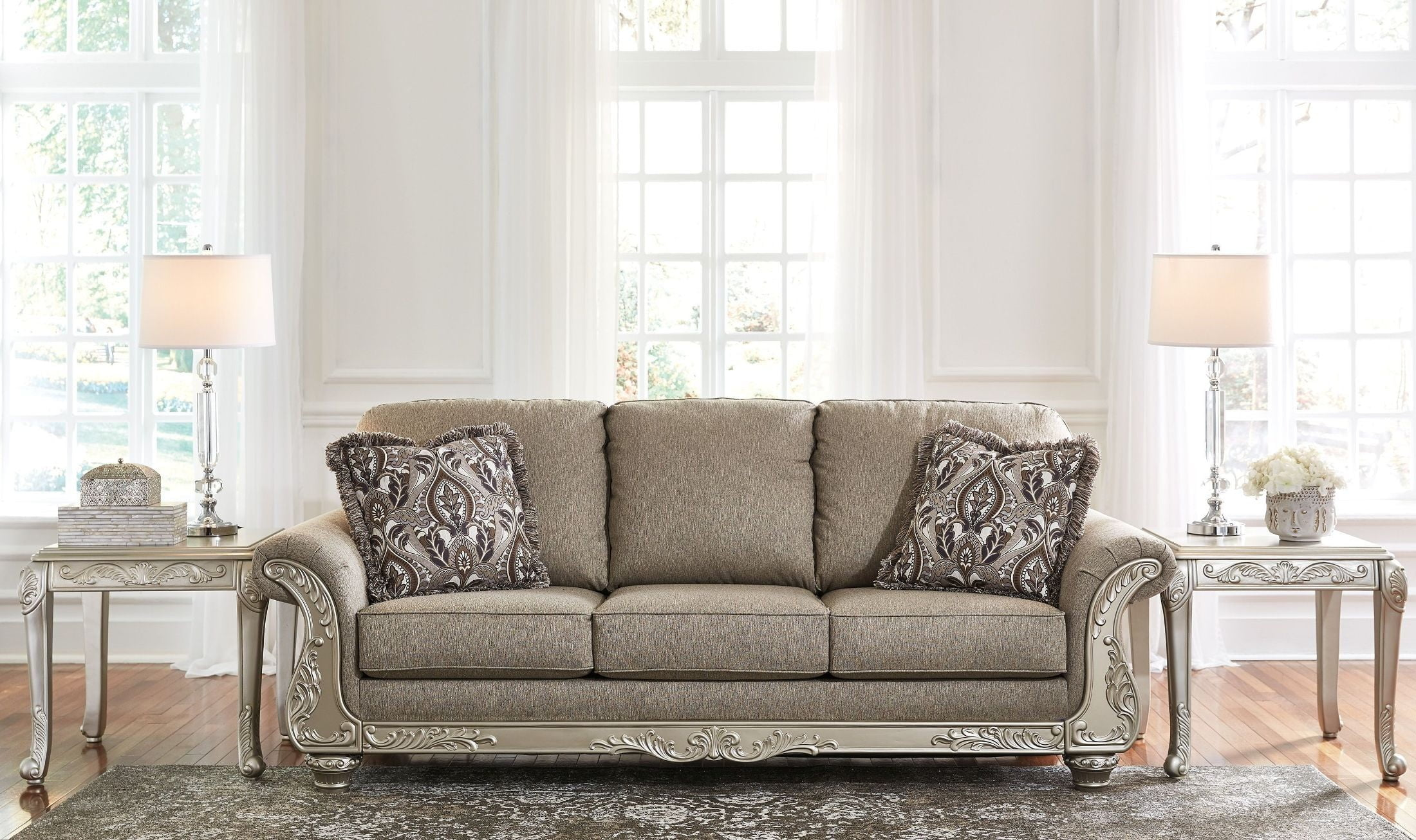 Gailian Smoke Living Room Set from Ashley | Coleman Furniture