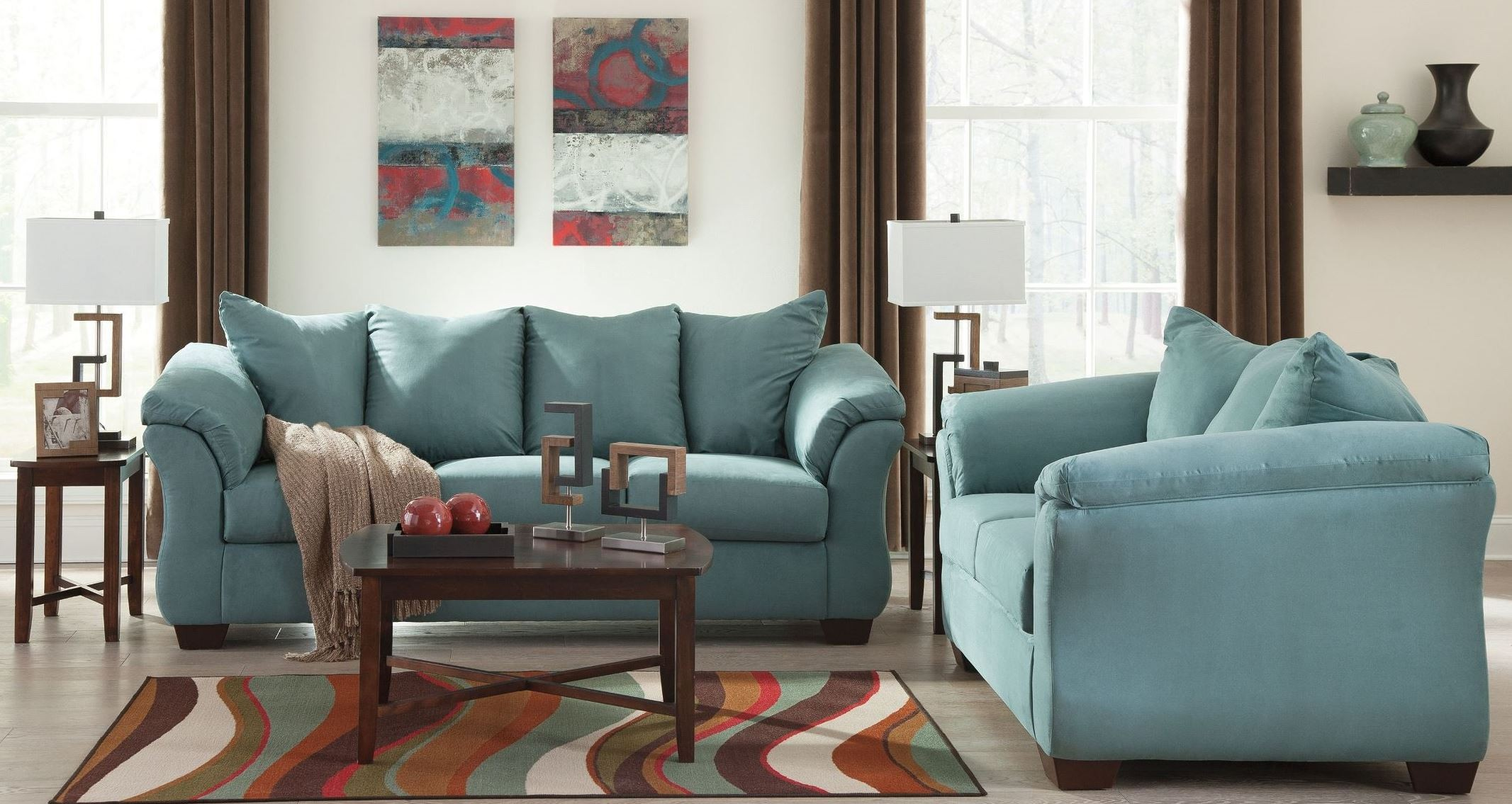 Darcy Sky Living Room Set From Ashley 7500638 35