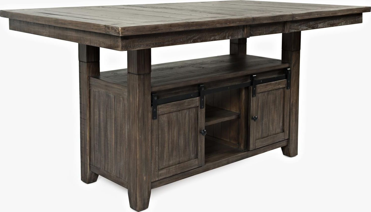 Madison County Barnwood Extendable Adjustable Dining Table