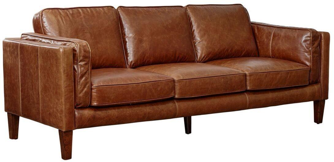 Marvelous Berkley Cocoa Brompton Vintage Leather Sofa