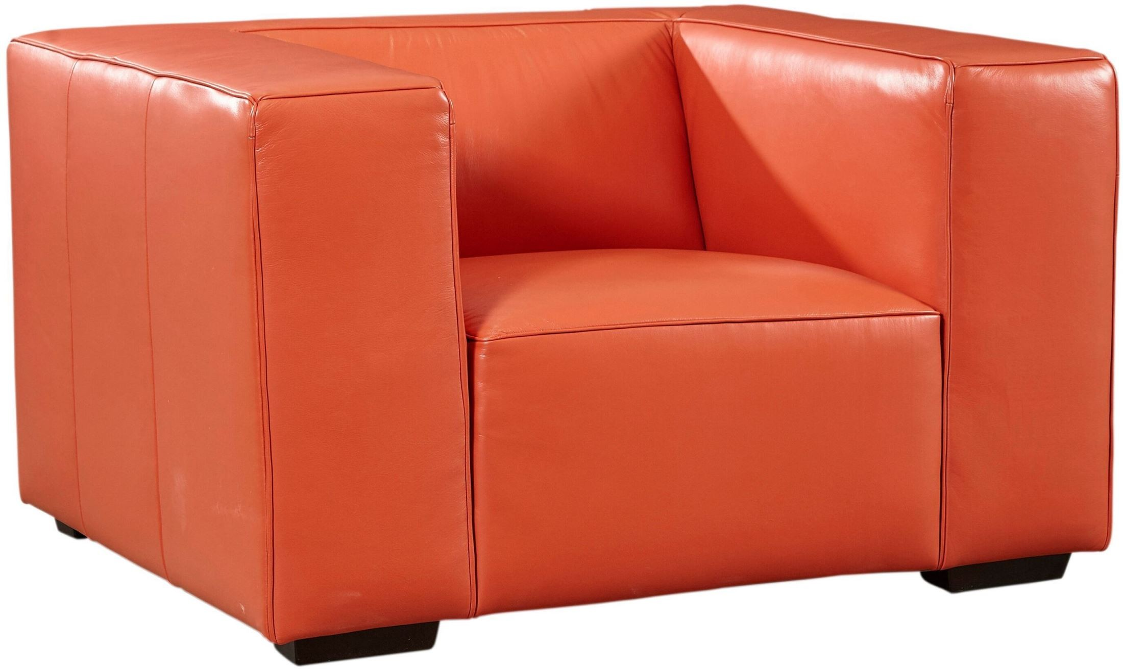 hayden tangerine top grain leather chair from lazzaro coleman furniture. Black Bedroom Furniture Sets. Home Design Ideas