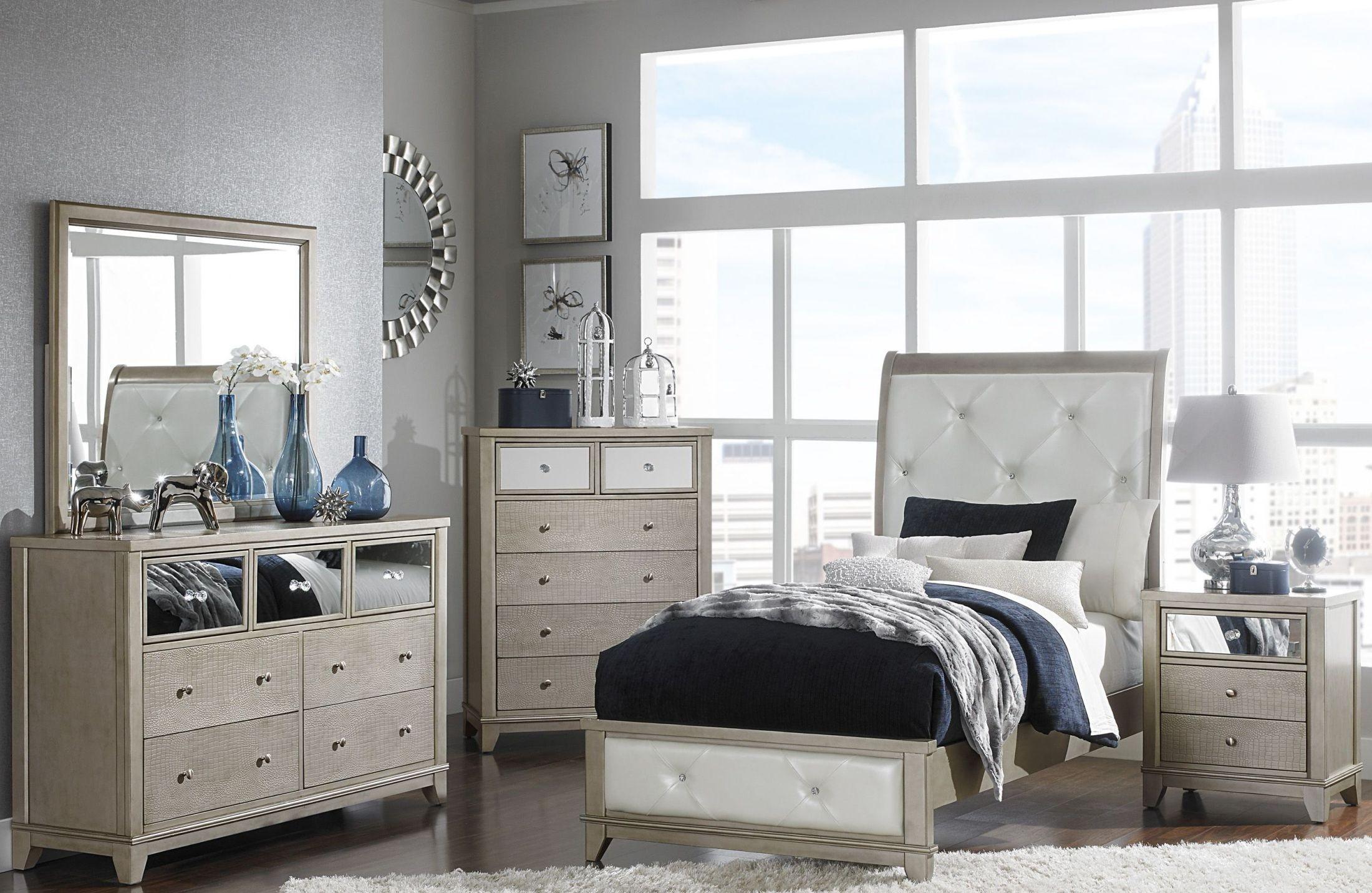 Odelia Pearl White Youth Platform Bedroom Set From Homelegance Coleman Furniture