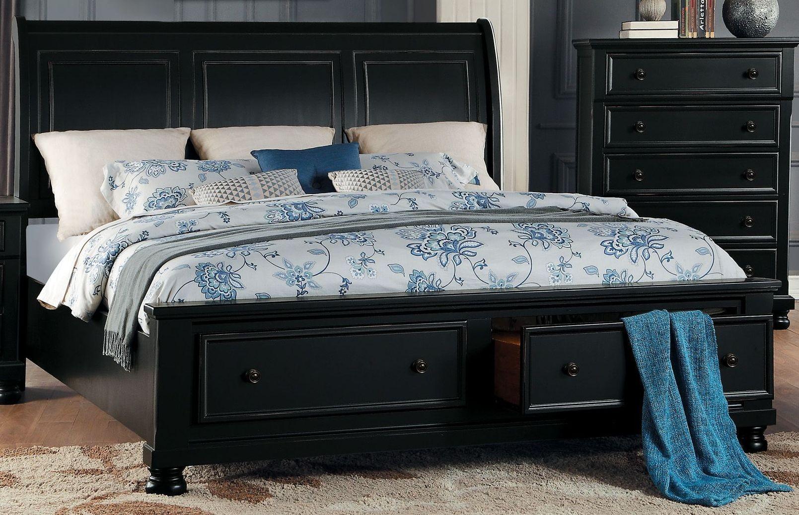 Homelegance Black Cal King Storage Bed