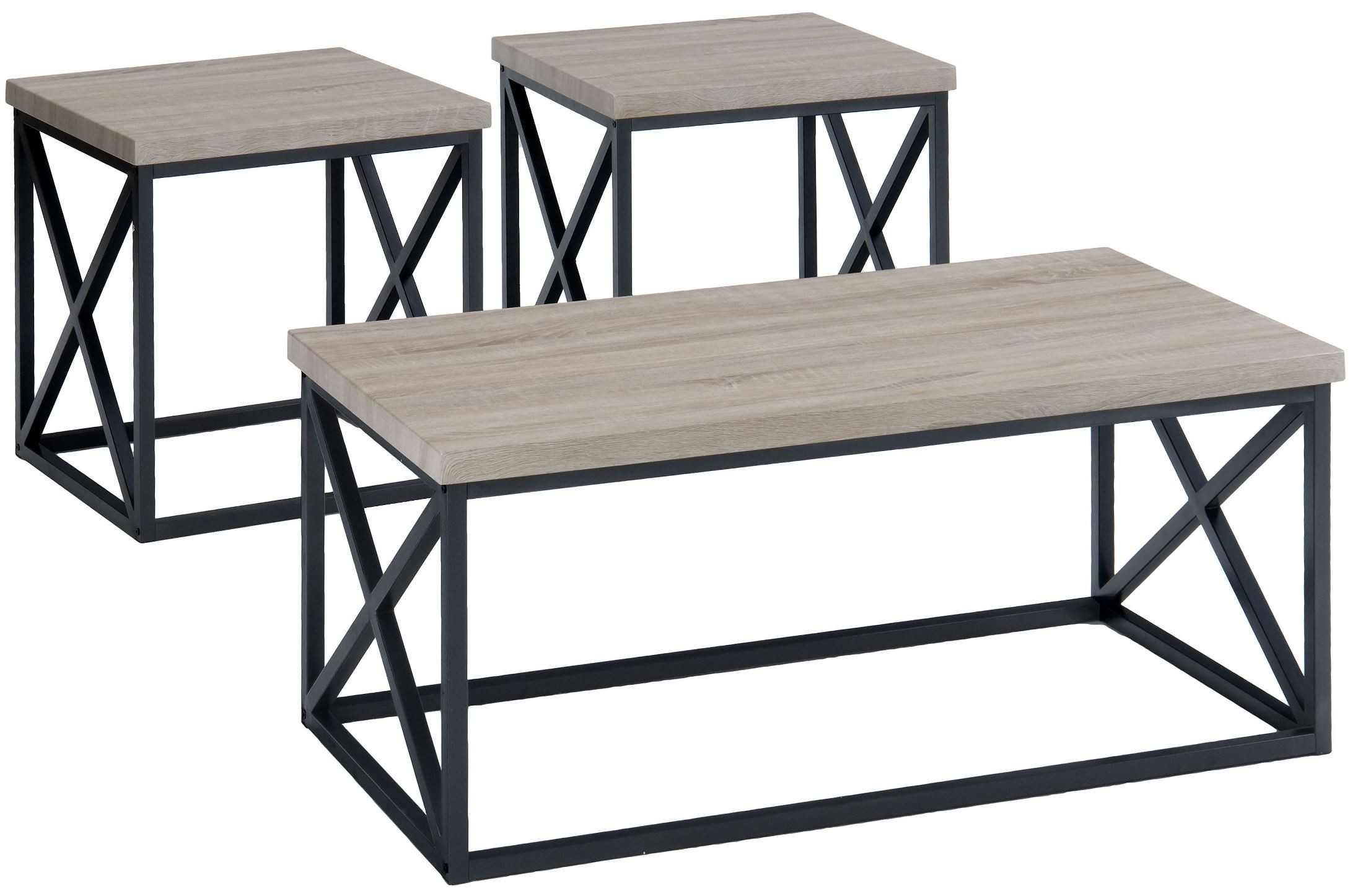 Orion ash 3 piece occasional table set from jofran for Occasional table manufacturers