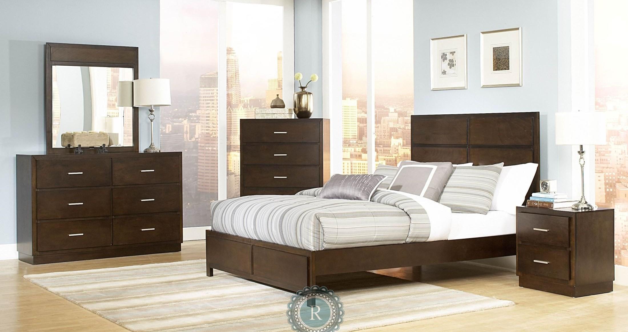 vernada panel bedroom set from homelegance 1735 1. Black Bedroom Furniture Sets. Home Design Ideas