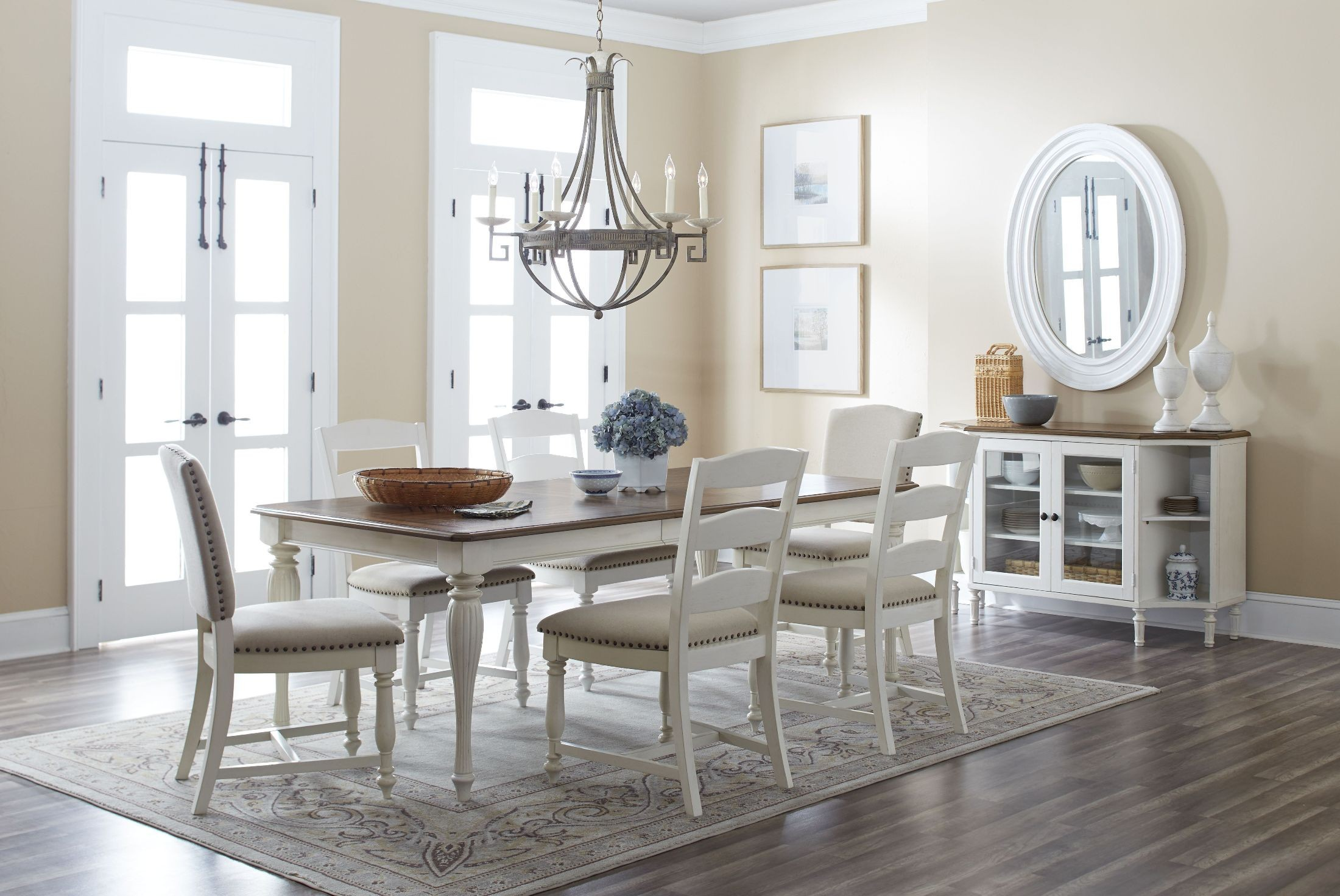 Castle Hill Brown and Cream Extendable Dining Room Set from Jofran ...