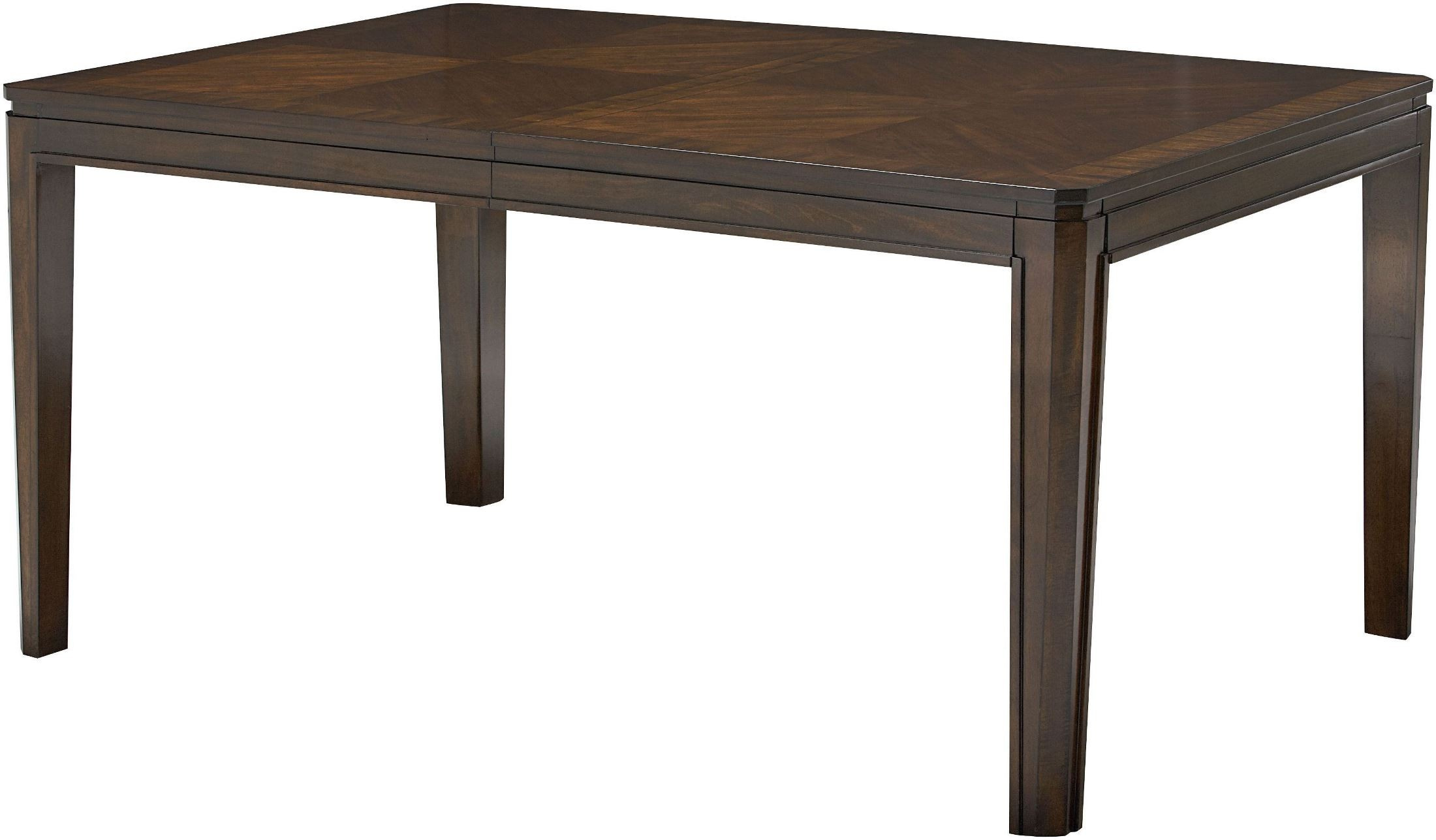 Avion walnut extendable leg dining table from standard for One leg dining table