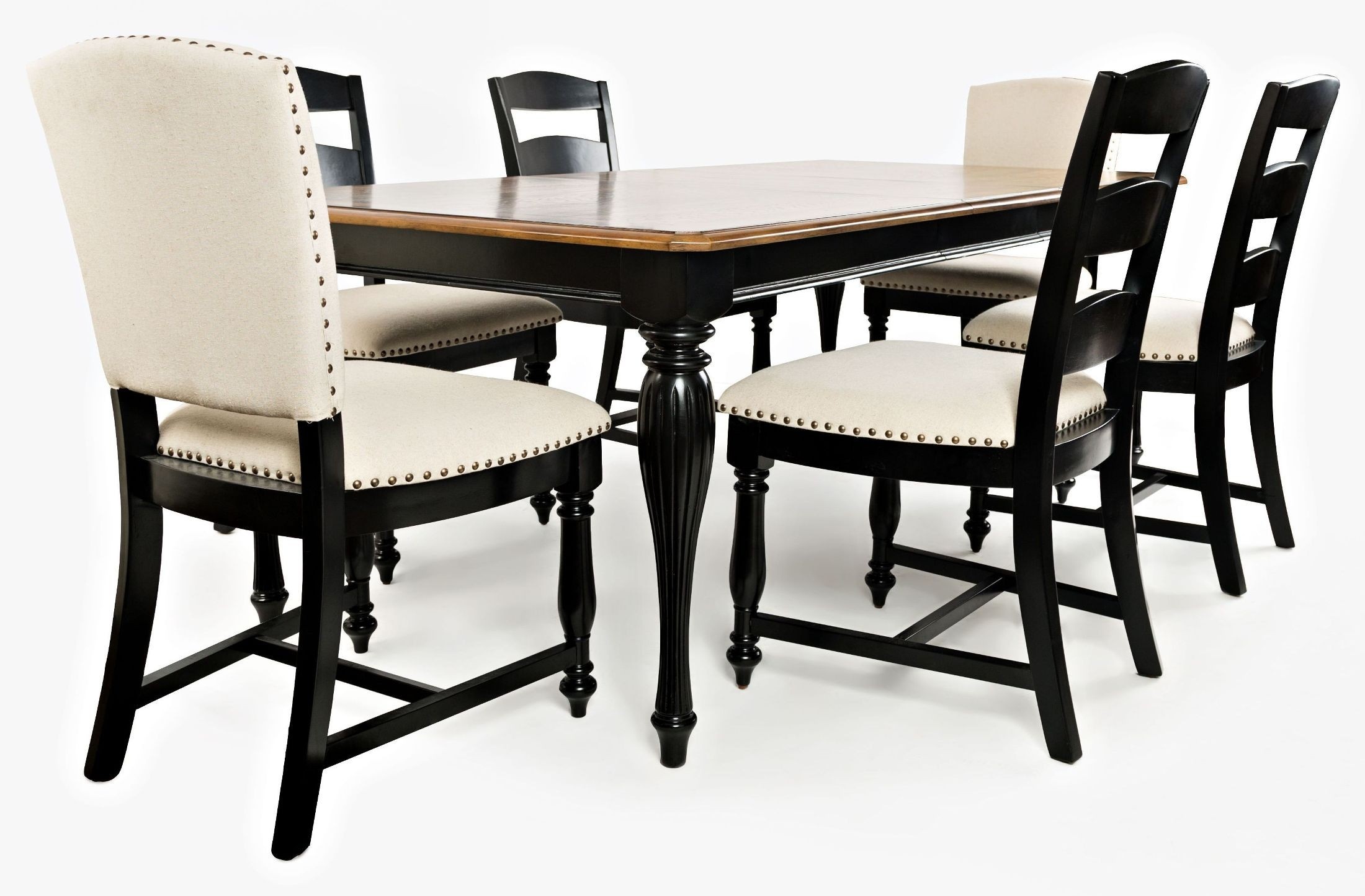 Castle Hill Brown And Black Extendable Dining Room Set