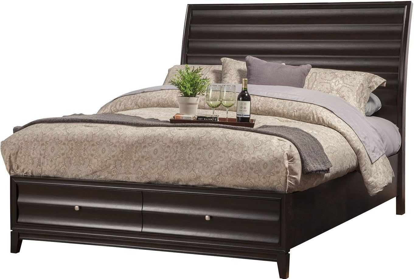 Legacy cherry cal king storage bed from alpine coleman - California king storage bedroom sets ...