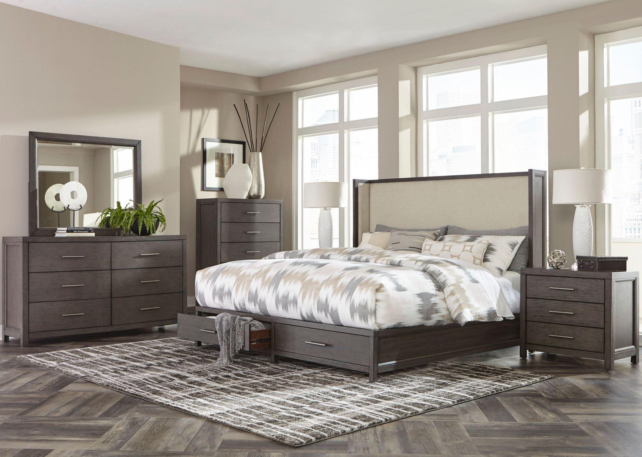 Fondren Dark Gray Storage Shelter Bedroom Set From